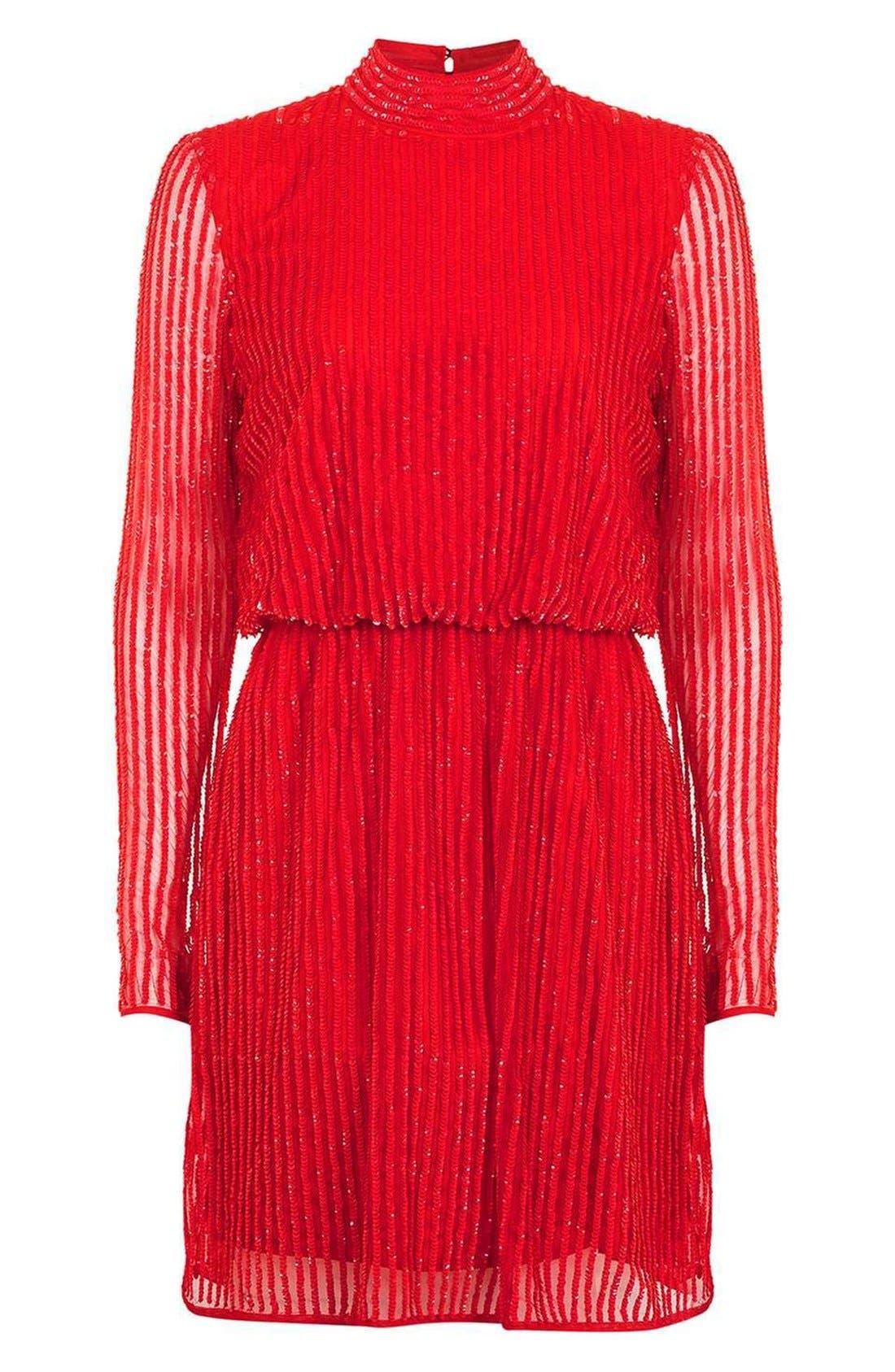 Alternate Image 4  - Topshop Sequin Blouson Dress