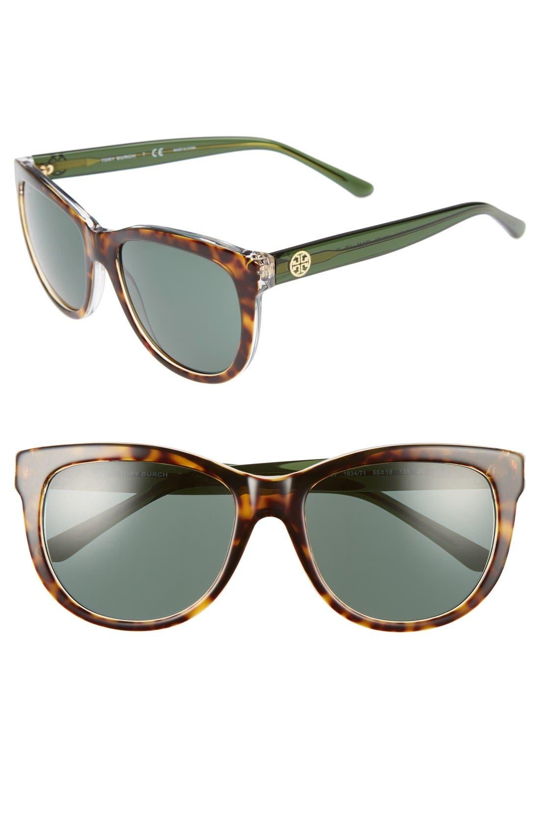 Alternate Image 1 Selected - Tory Burch 55mm Sunglasses