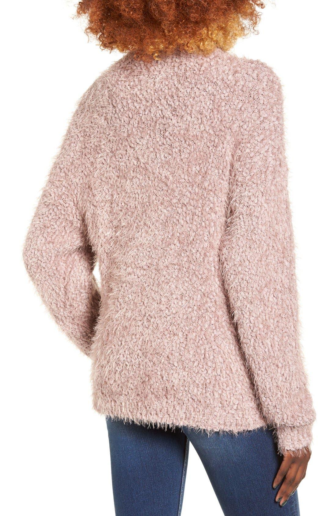 Alternate Image 2  - BP. Fluffy Knit Mock Neck Pullover