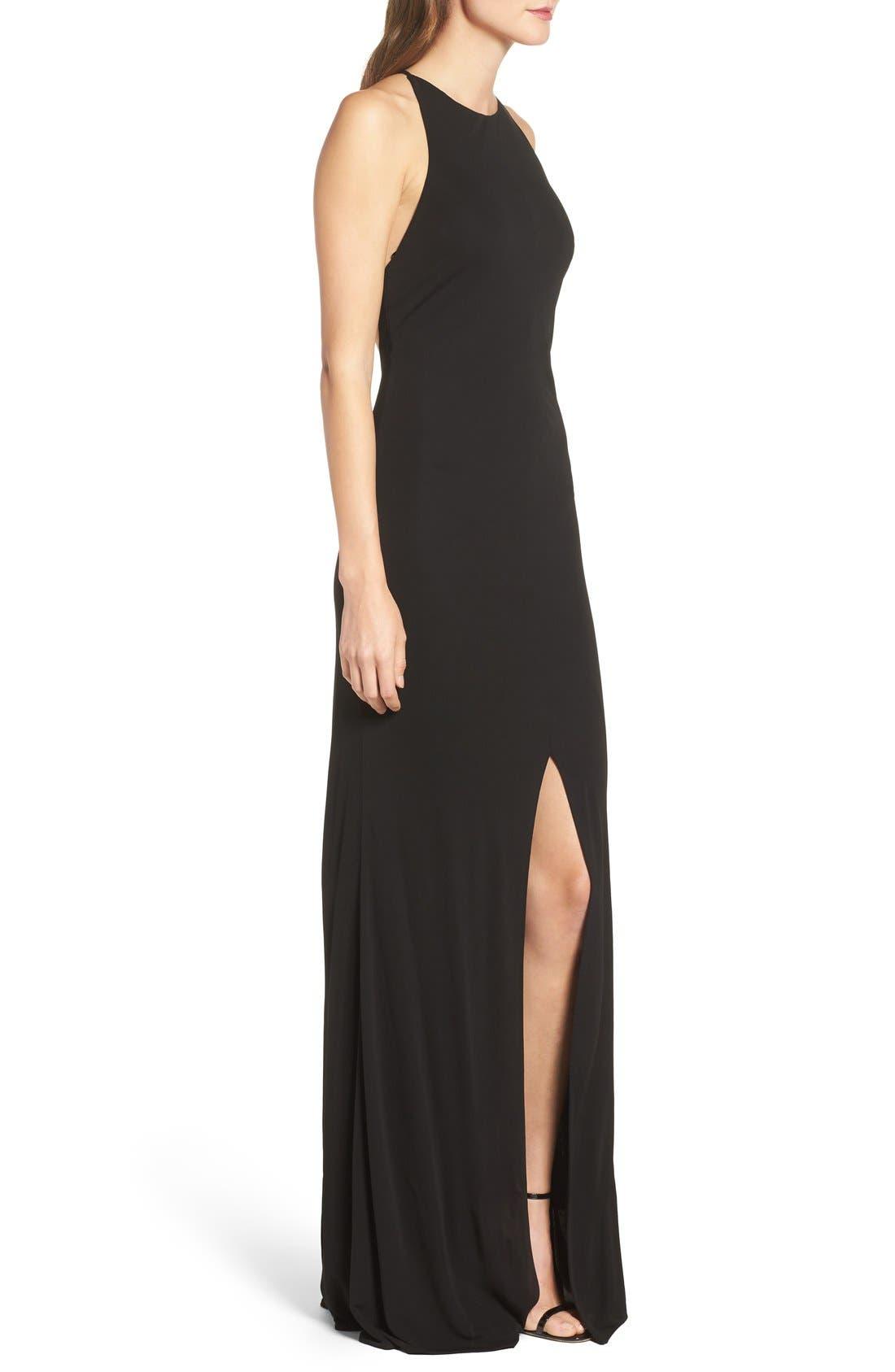 Alternate Image 3  - Maria Bianca Nero Victoria Sleeveless Gown
