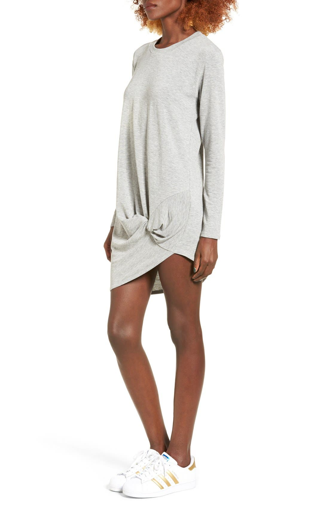 Alternate Image 3  - Michelle by Comune Woodway Knotted Hem T-Shirt Dress