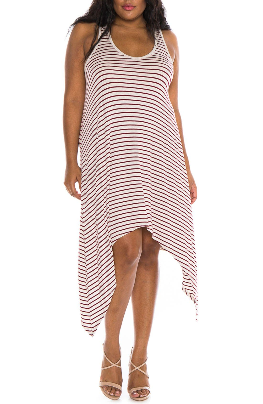 SLINK Jeans Stripe Tank Dress (Plus Size)