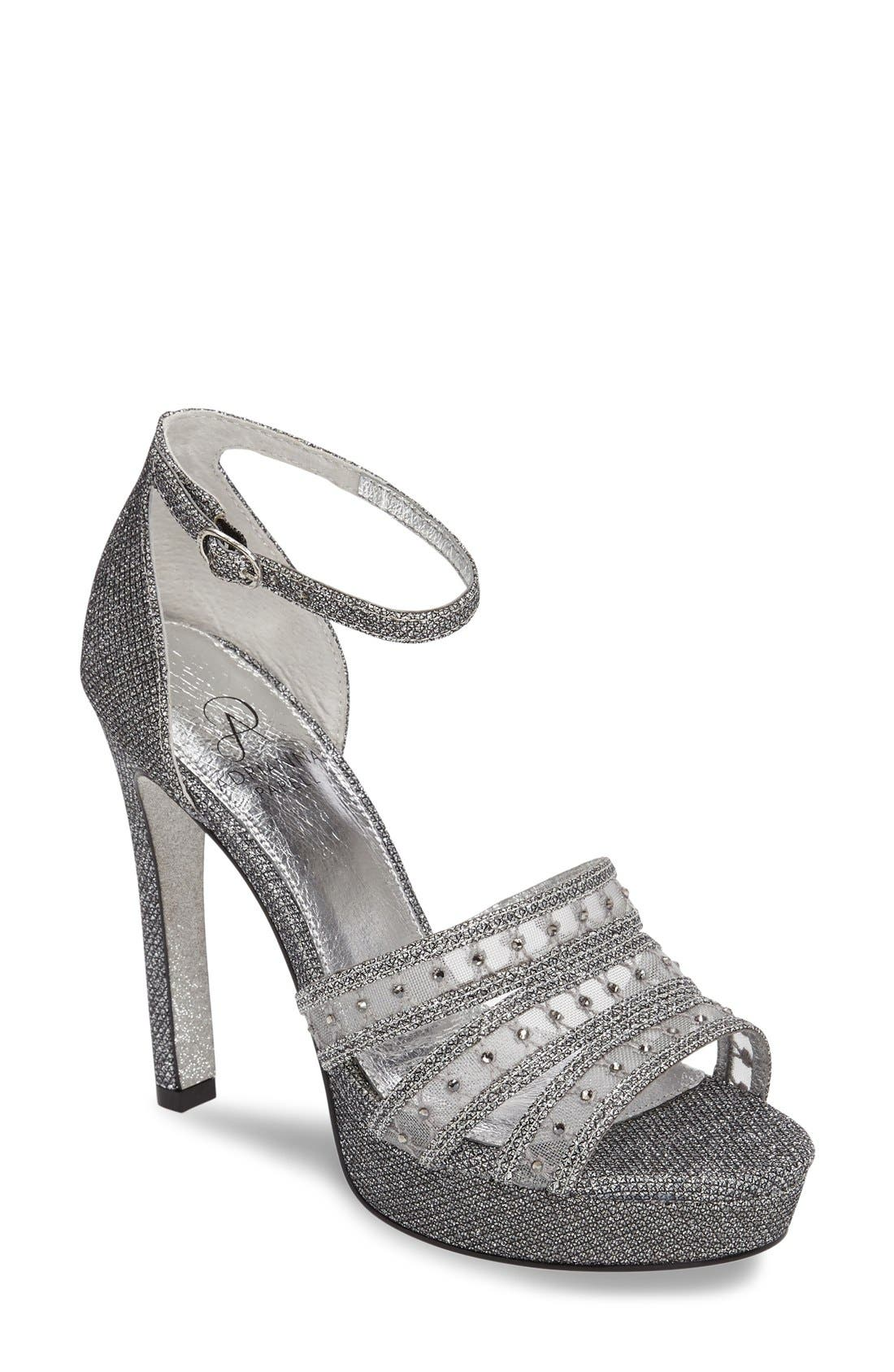 ADRIANNA PAPELL Morgan Platform Ankle Strap Sandal