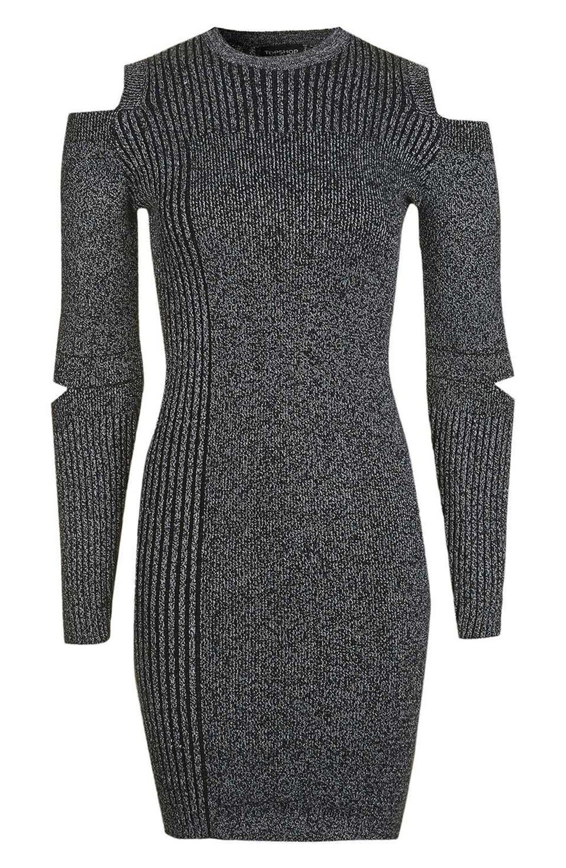 Alternate Image 5  - Topshop Slash Ribbed Sweater Dress
