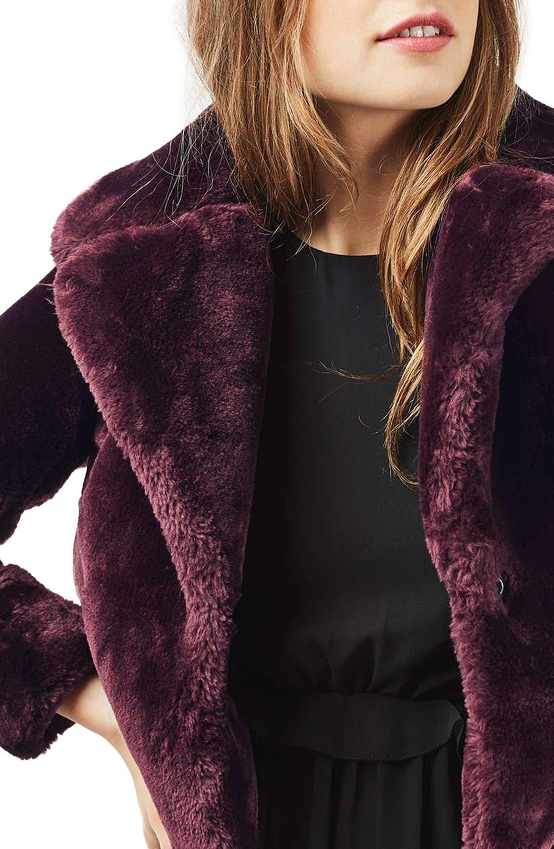 Alternate Image 4  - Topshop Crop Faux Fur Coat