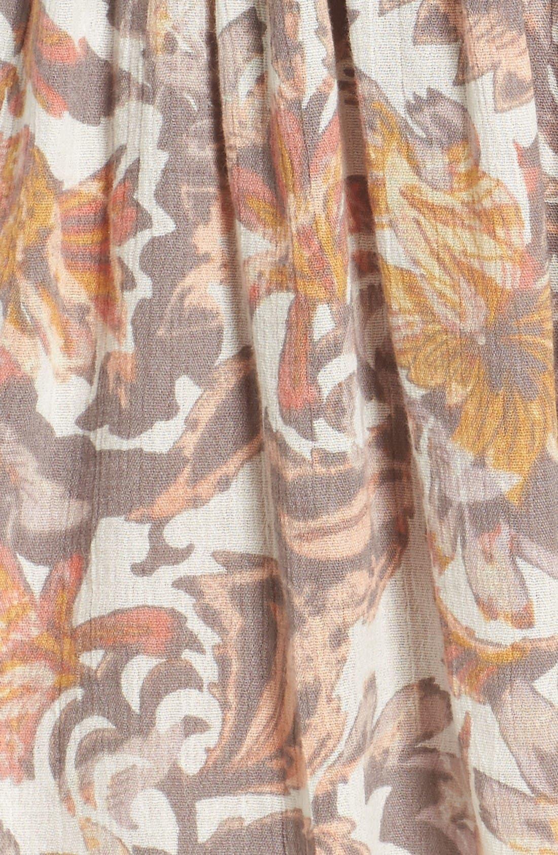 Alternate Image 5  - Sun & Shadow Print Smocked Waist Skirt