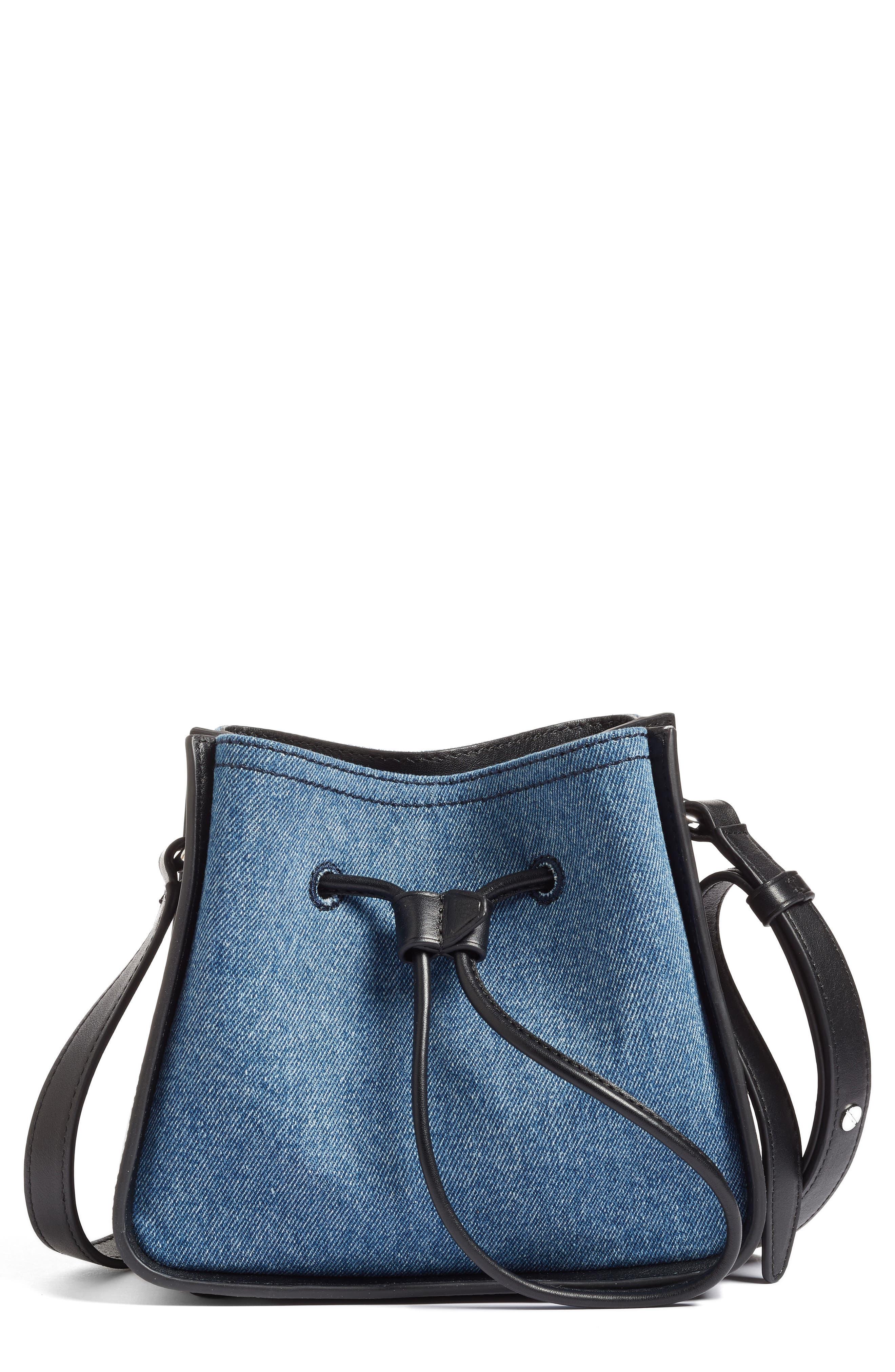 3.1 Phillip Lim Mini Soleil Denim & Leather Bucket Bag