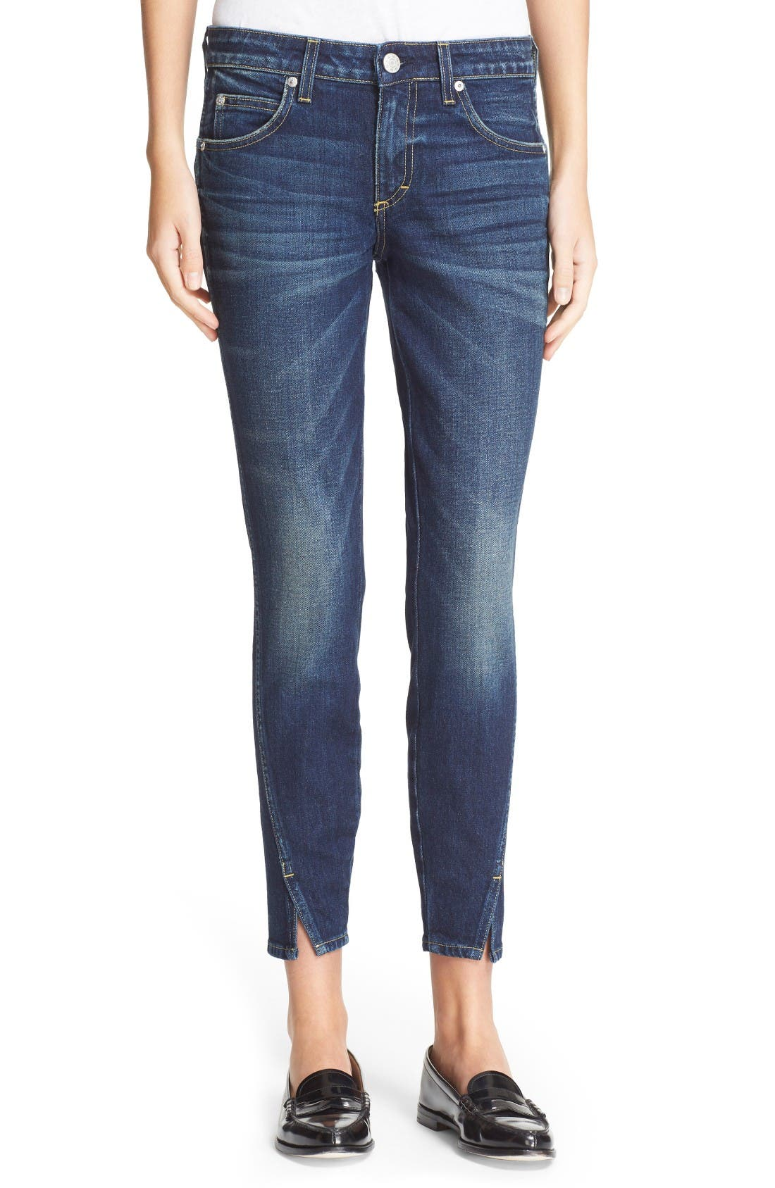 AMO 'Twist' Crop Skinny Jeans