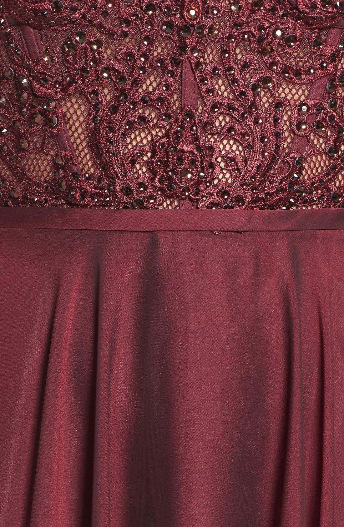 Alternate Image 6  - La Femme Embellished Strapless Gown