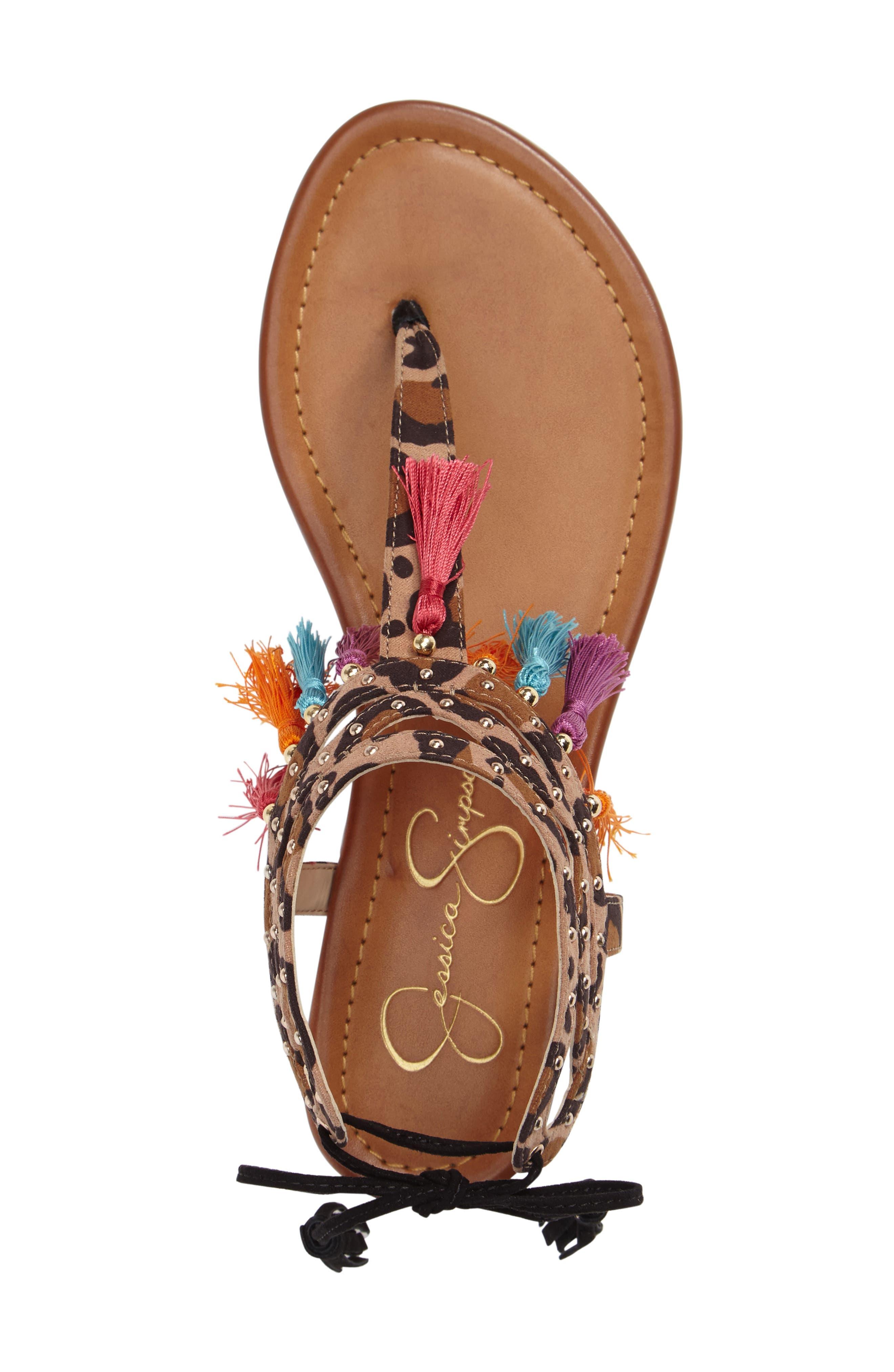 Alternate Image 3  - Jessica Simpson Kamel Studded Tassel Sandal (Women)