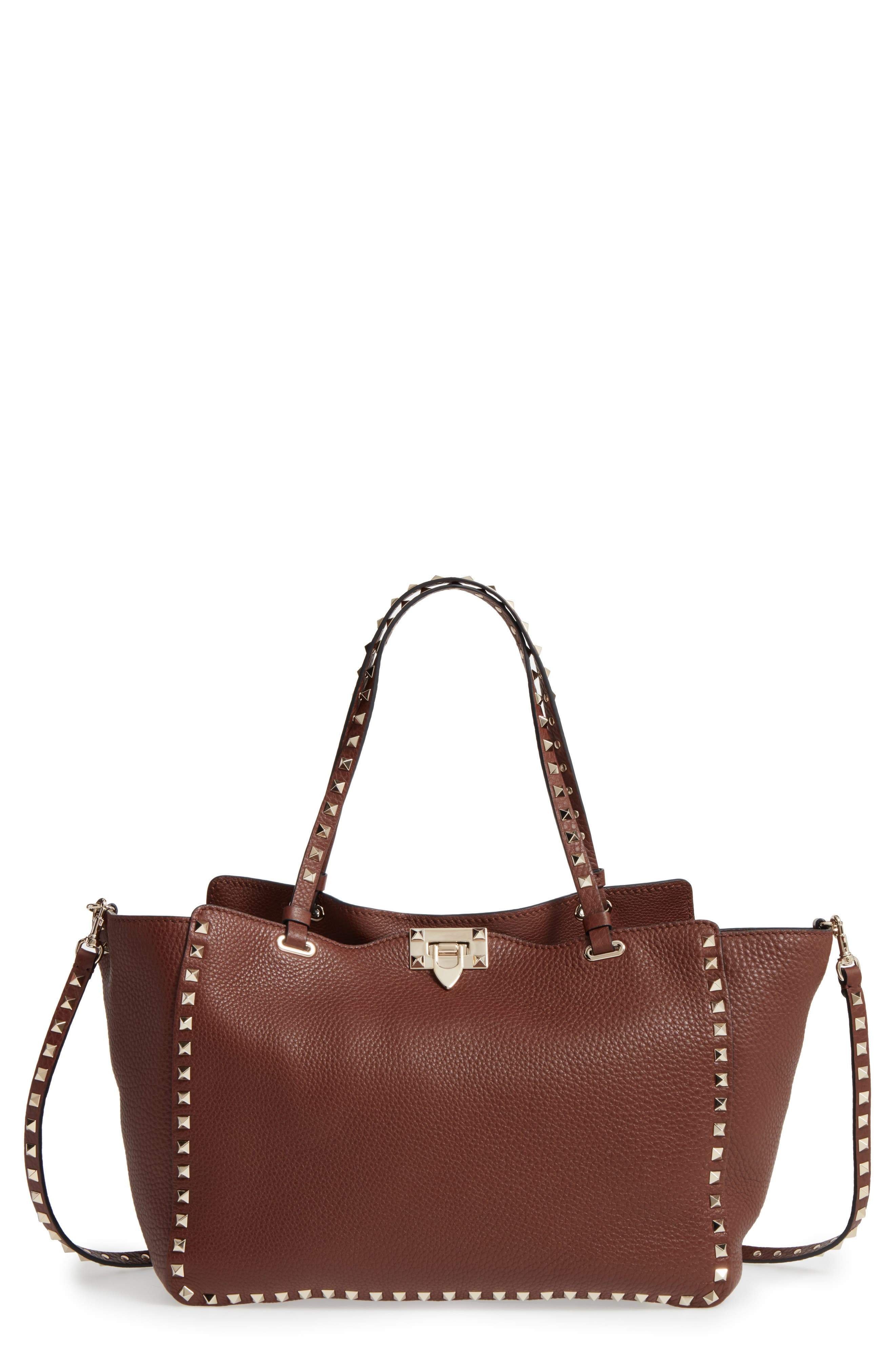 Alternate Image 1 Selected - Valentino 'Rockstud' Grained Calfskin Leather Tote