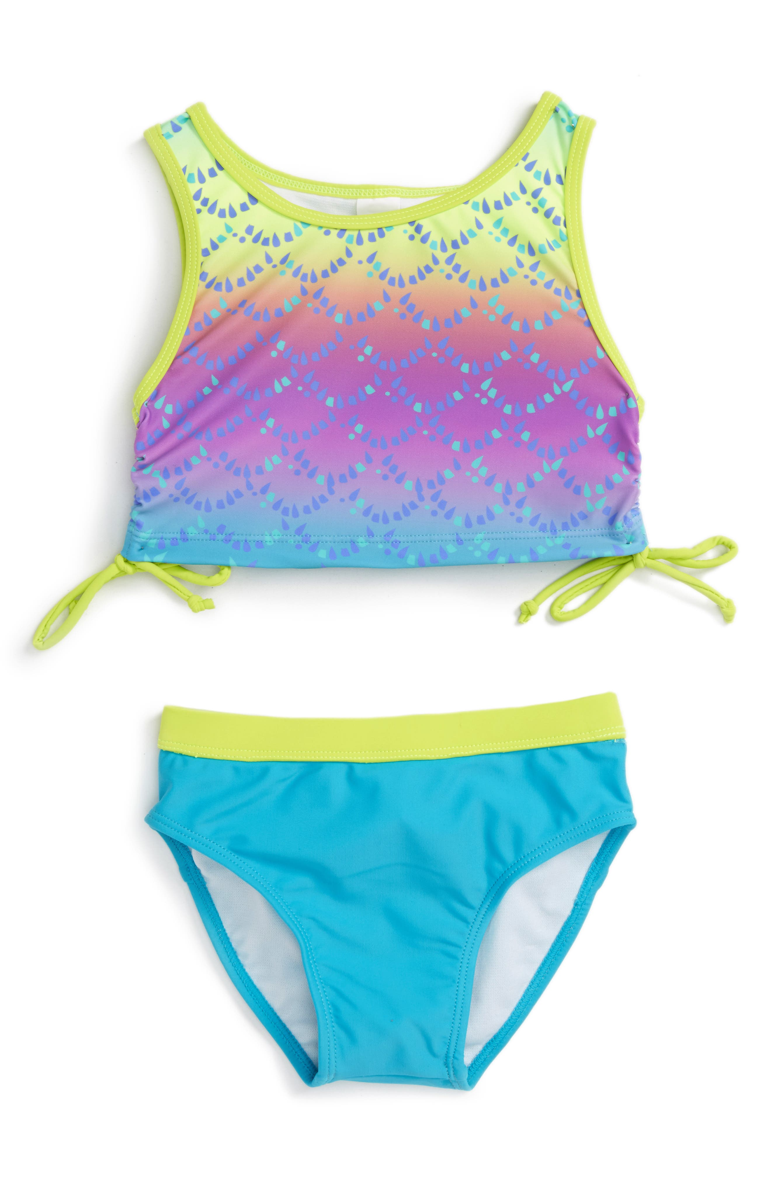 LIMEAPPLE Print Two-Piece Swimsuit