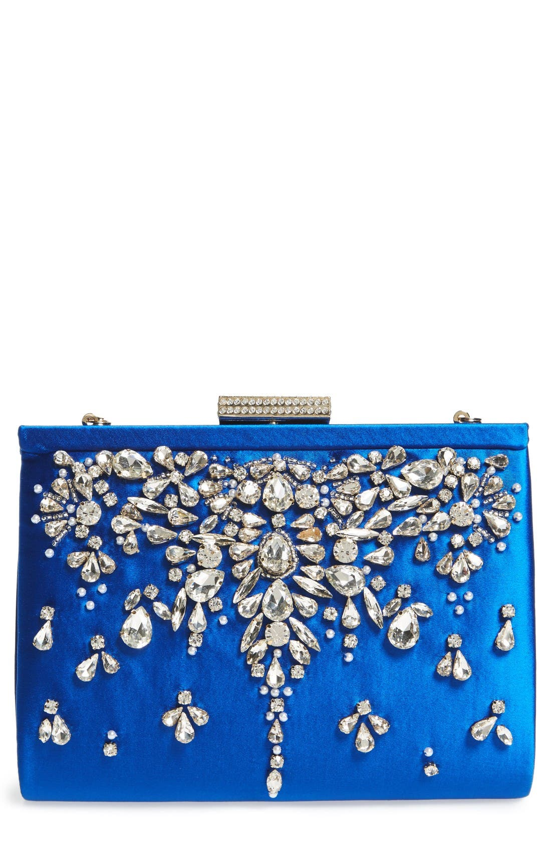 Main Image - Badgley Mischka Adele Frame Clutch