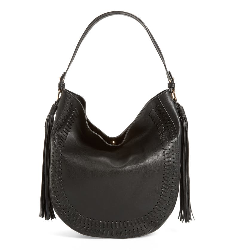 Phase 3 tassel faux leather hobo bag nordstrom for Define faux leather