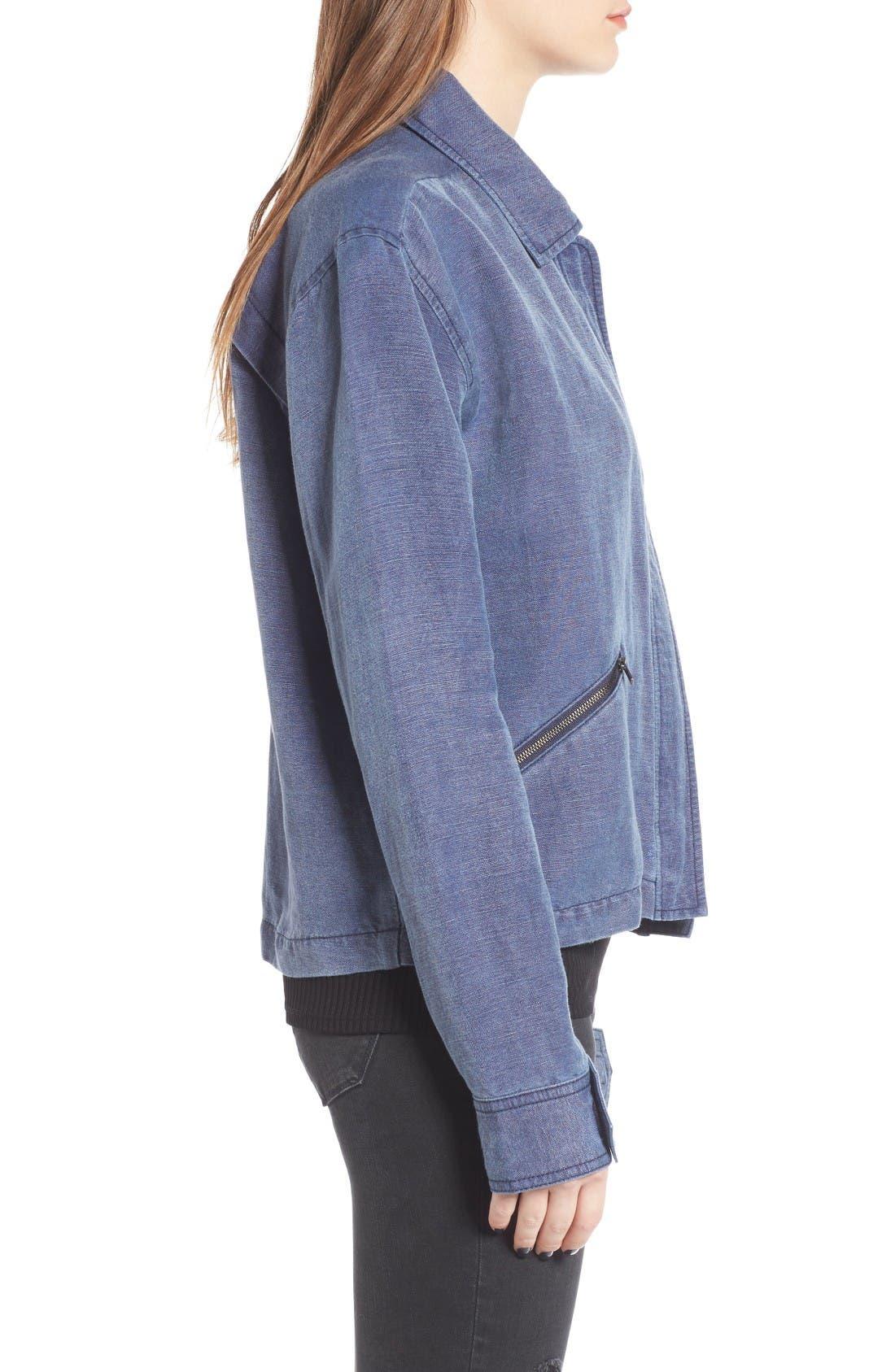 Alternate Image 3  - BP. Washed Linen Blend Jacket