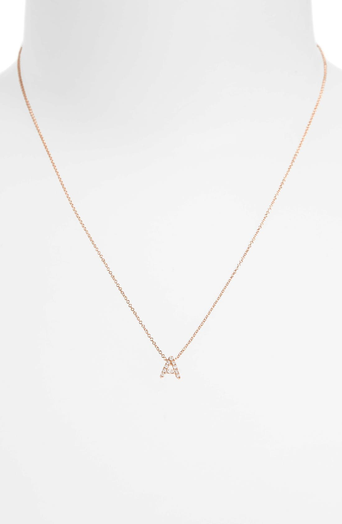 Alternate Image 2  - Bony Levy Pavé Diamond Initial Pendant Necklace (Nordstrom Exclusive)