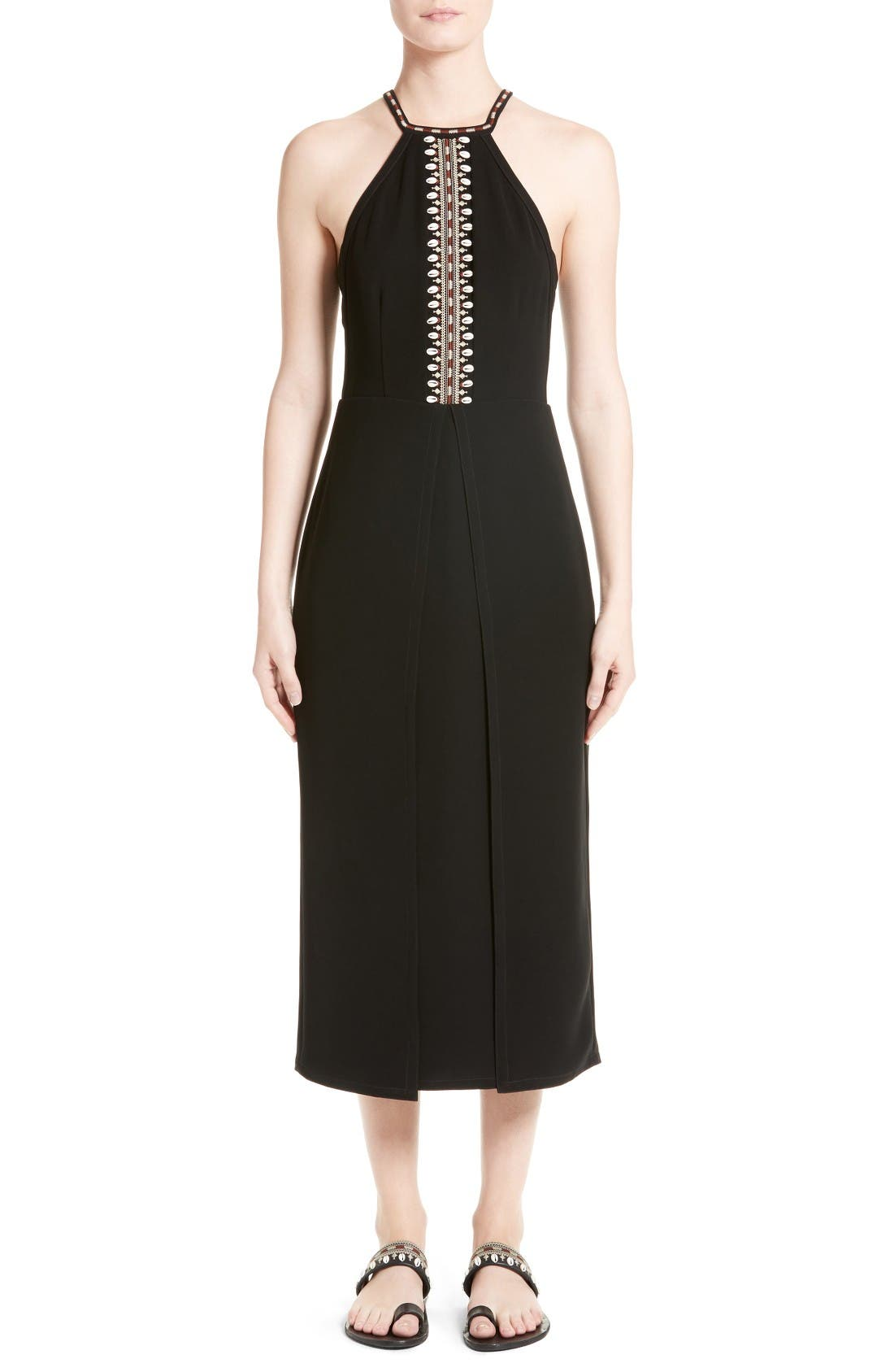 YIGAL AZROUËL Embellished Midi Dress