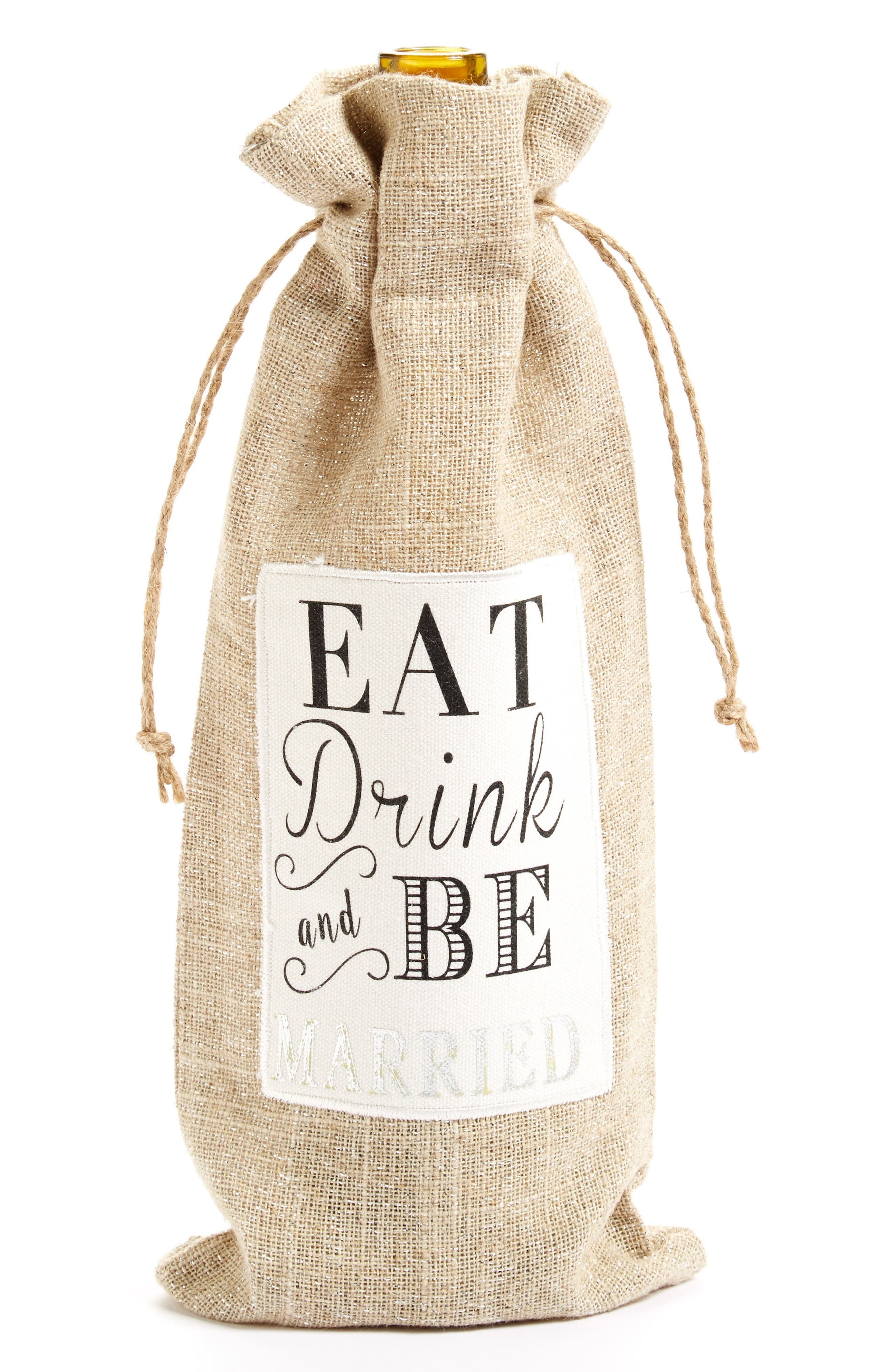 LEVTEX Eat, Drink & Be Married Wine Bag