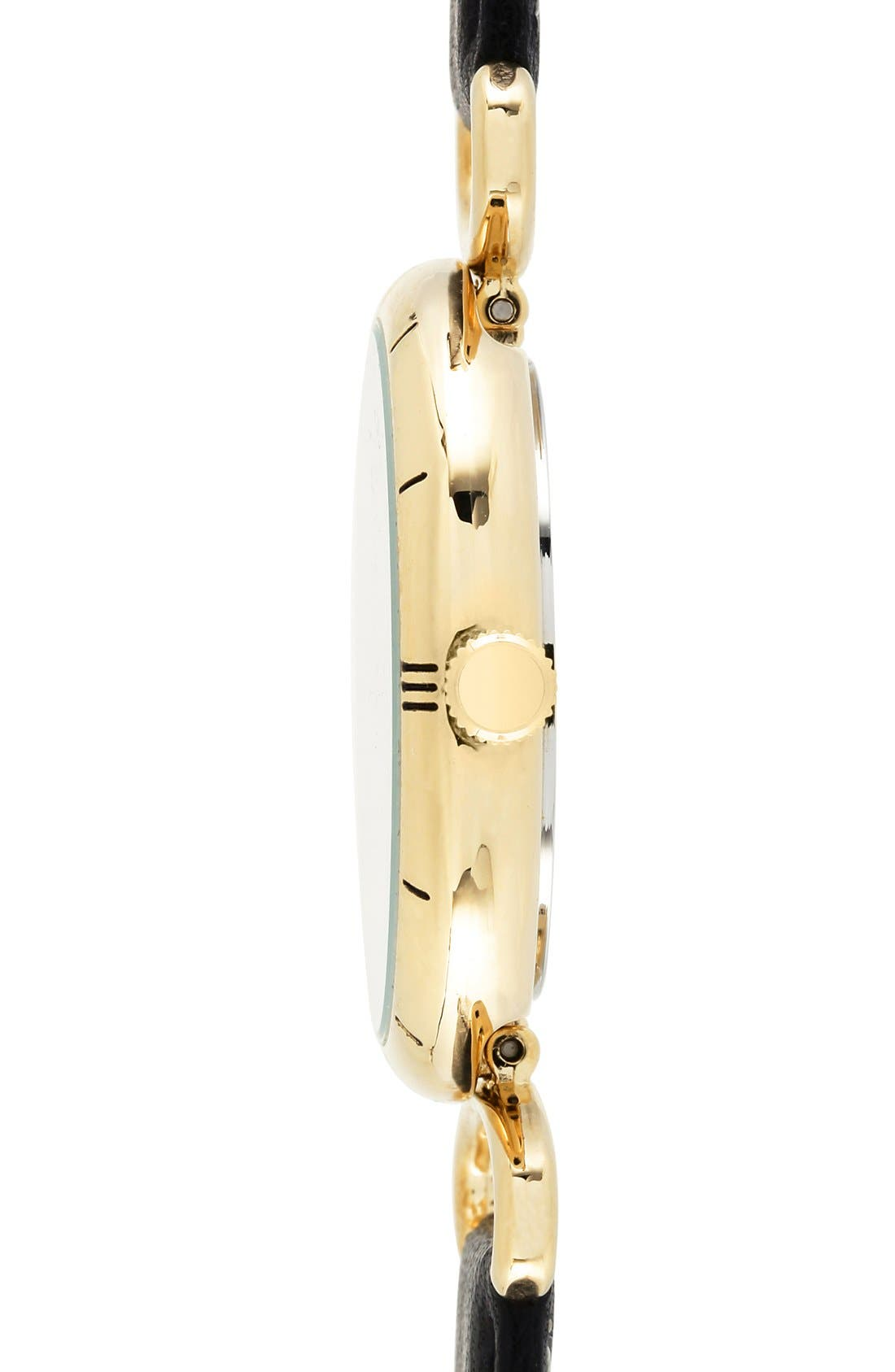 Alternate Image 3  - Anne Klein Crystal Detail Leather Strap Watch & Bracelets Set, 26mm