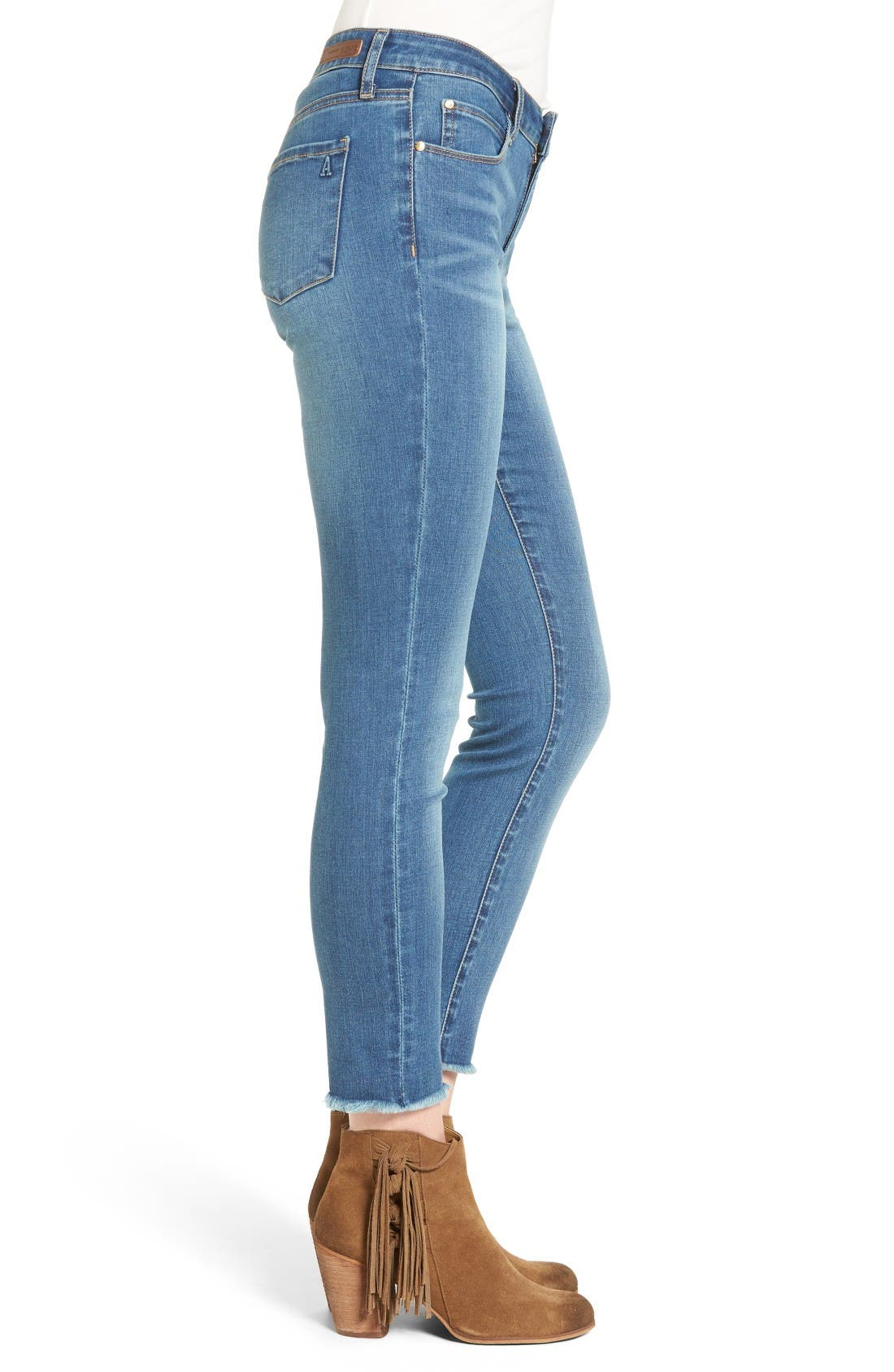Alternate Image 4  - Articles of Society Carly Crop Skinny Jeans