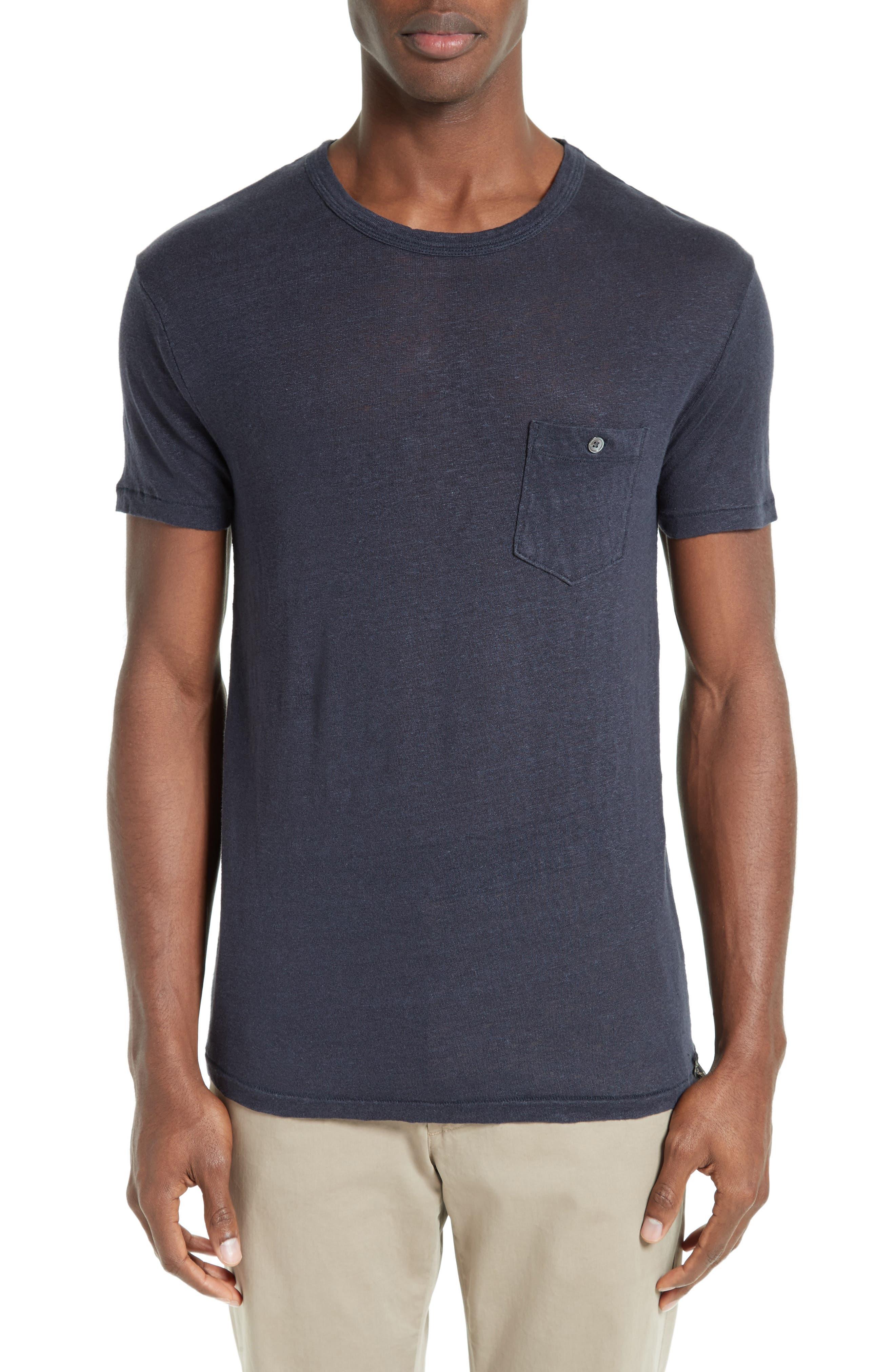 TODD SNYDER Crewneck Linen T-Shirt