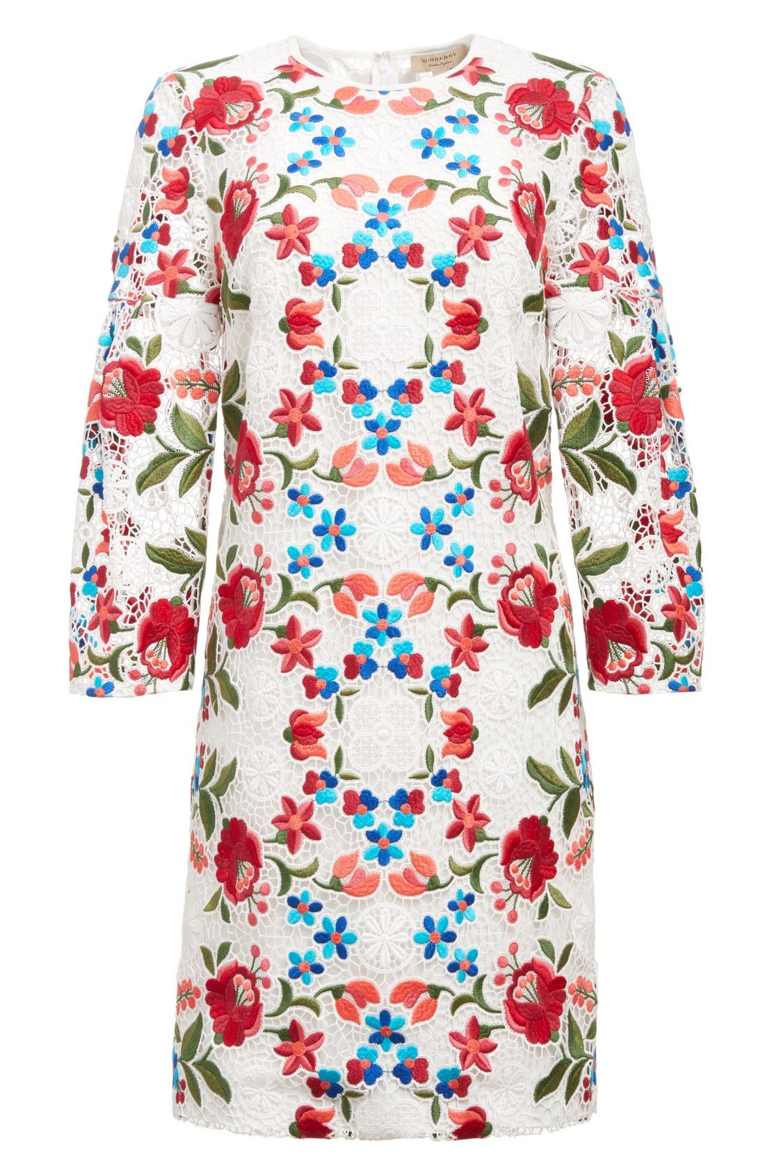 Alternate Image 4  - Burberry Carrie Embroidered Lace Dress