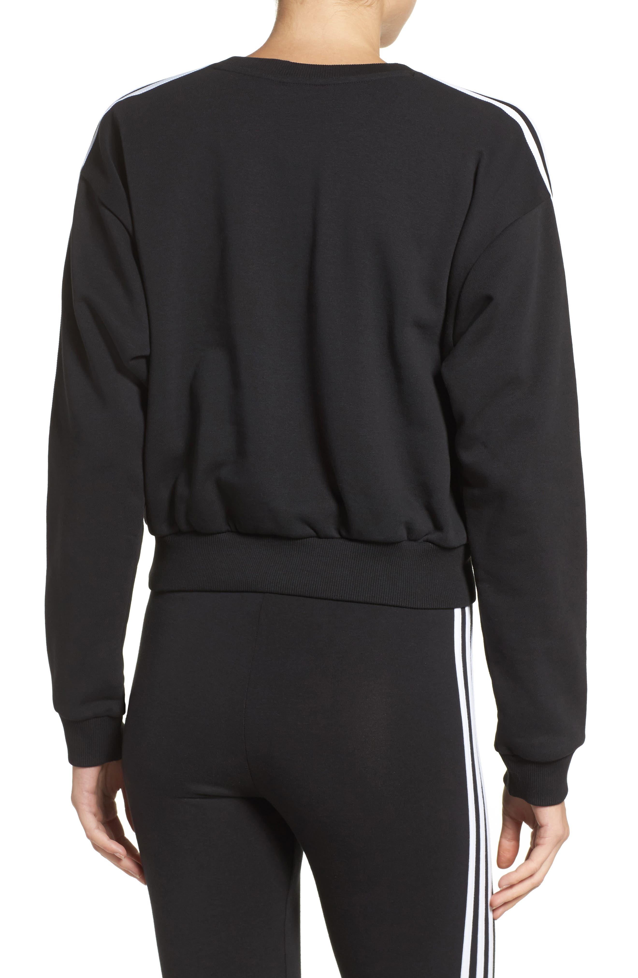 Alternate Image 2  - adidas Originals 3-Stripes Crop Sweatshirt