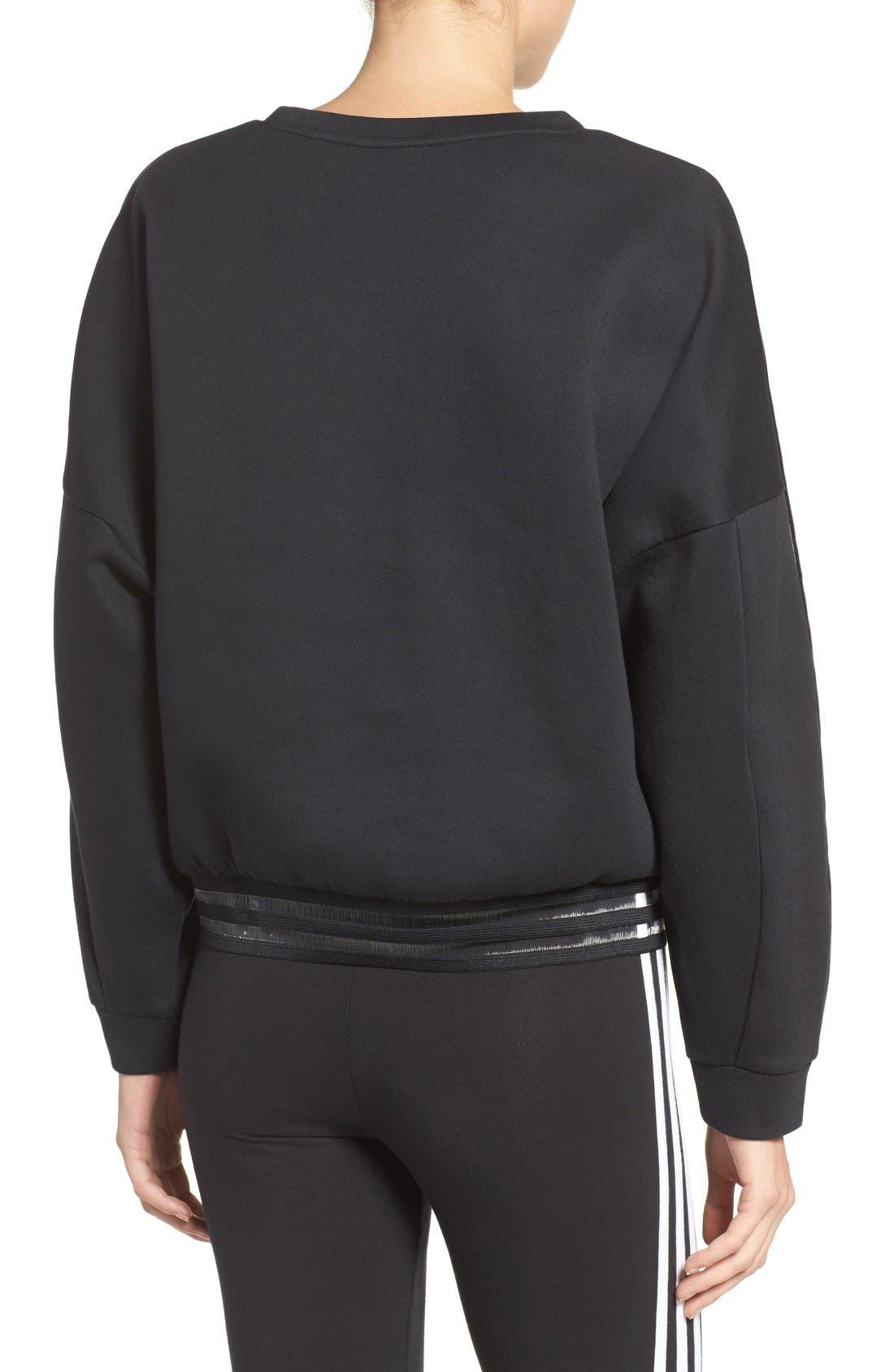 Alternate Image 2  - adidas Originals Shadow Stripe Sweatshirt
