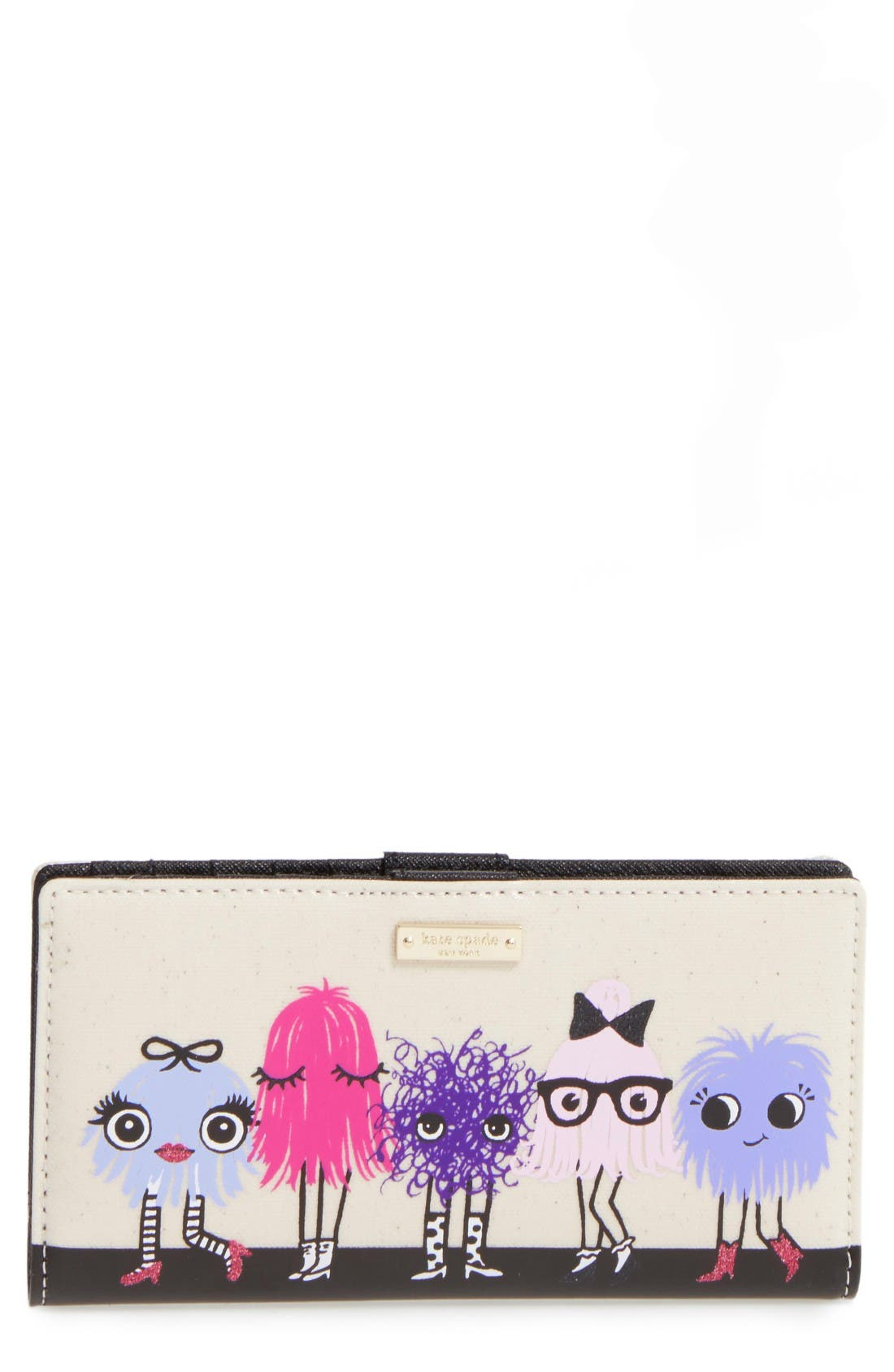 Main Image - kate spade new york monster party stacy coated canvas wallet