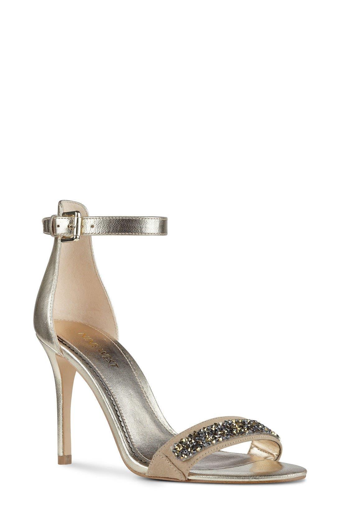 Alternate Image 1 Selected - Nine West 'Mana' Ankle Strap Sandal (Women)