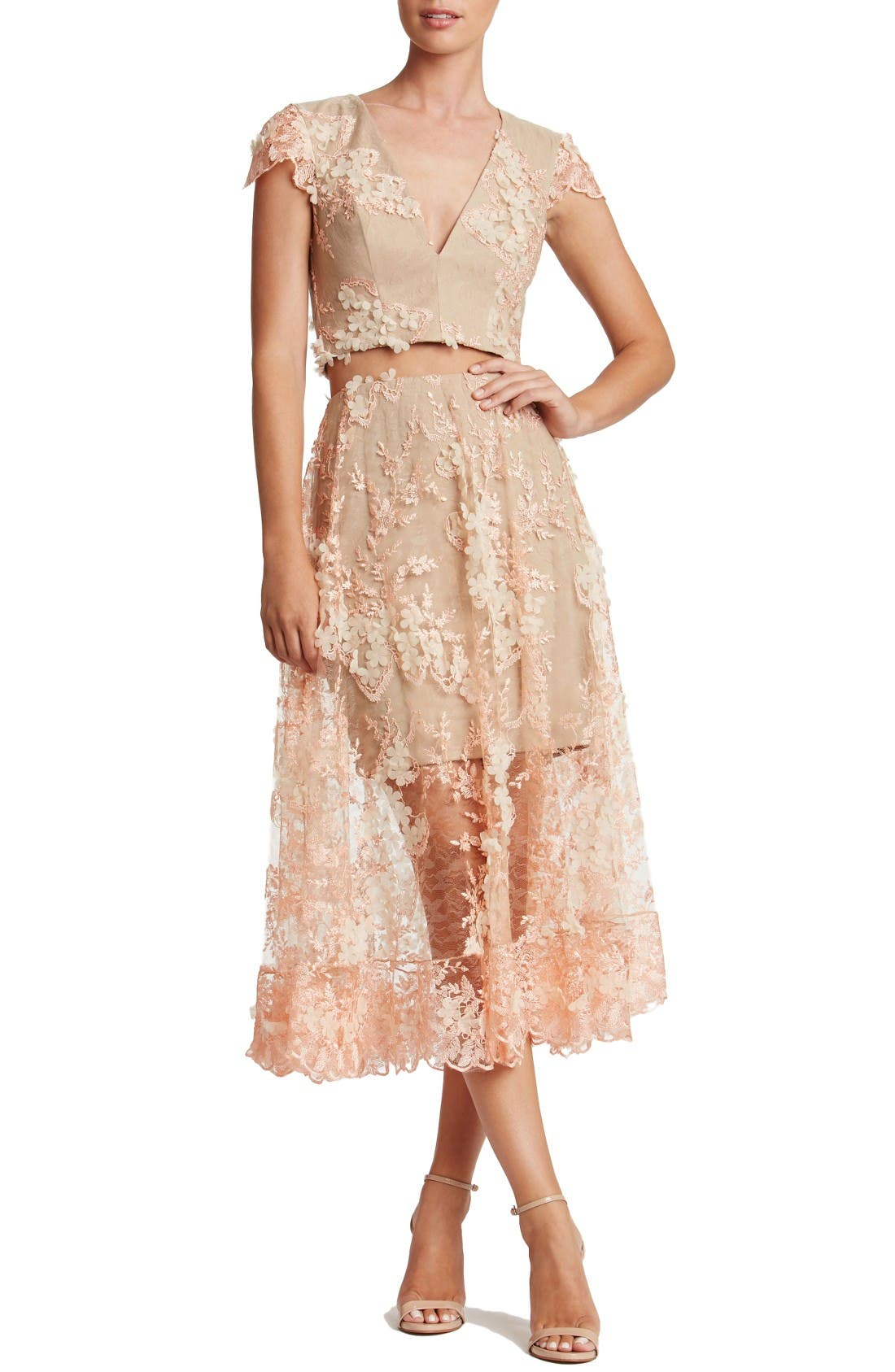 Alternate Image 1 Selected - Dress the Population Juliana Two-Piece Dress