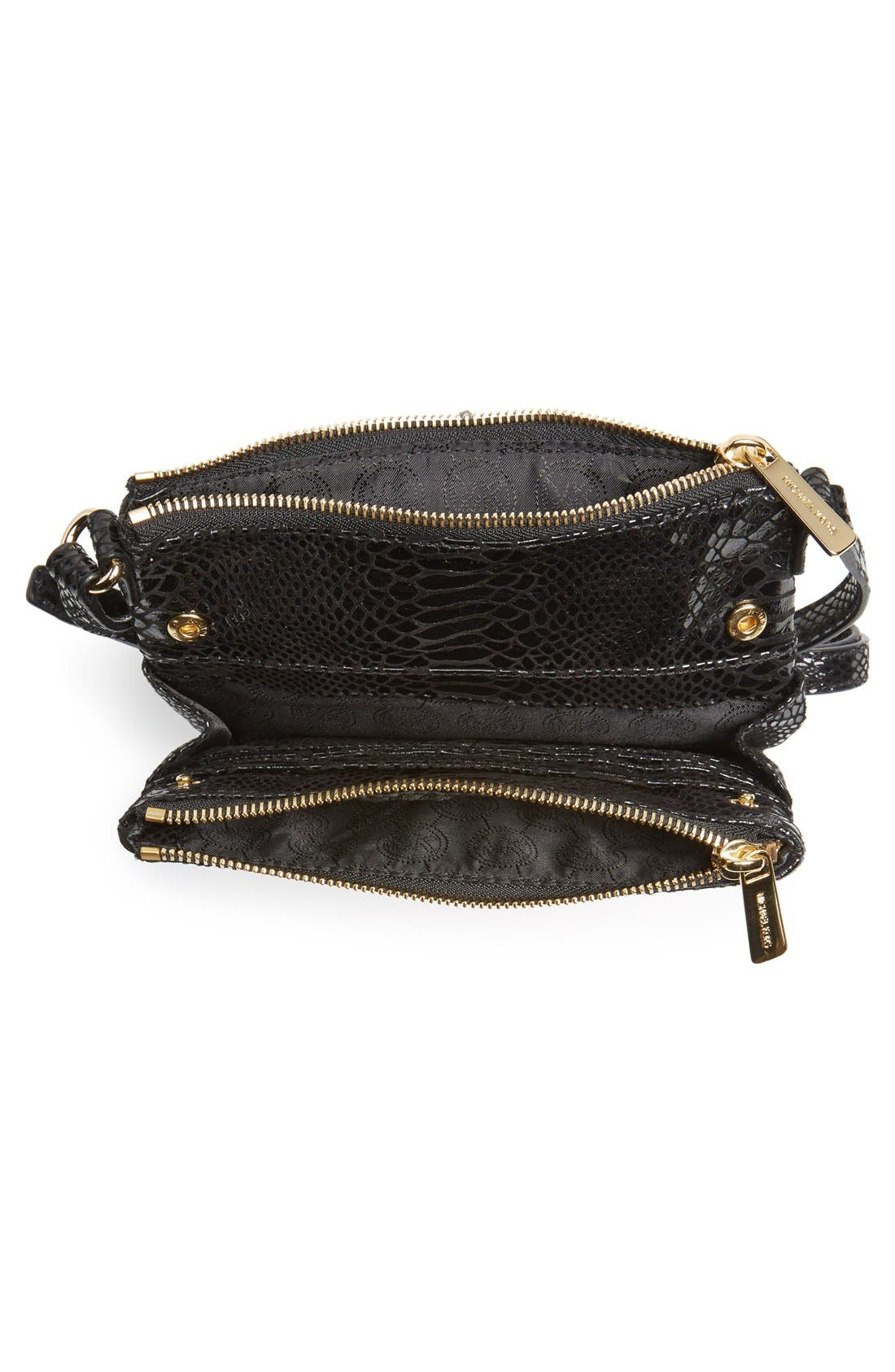 Alternate Image 3  - MICHAEL Michael Kors 'Large Fulton' Embossed Patent Crossbody Bag