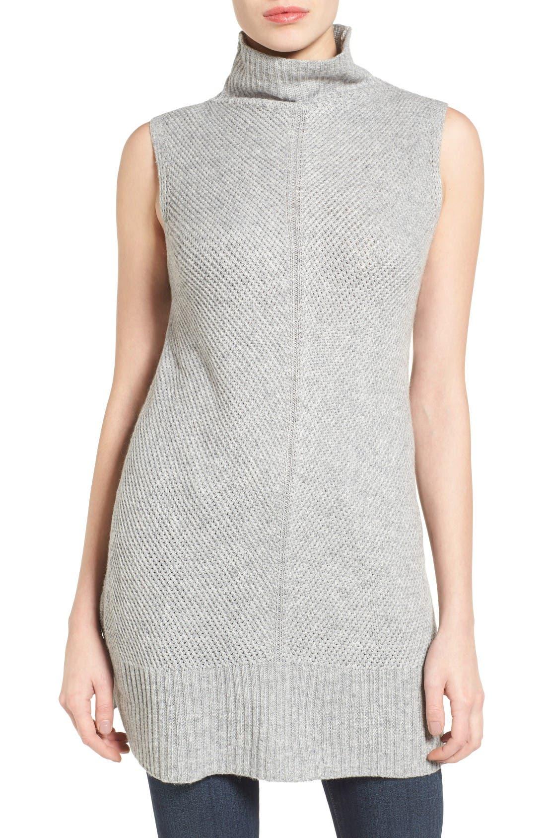 Alternate Image 1 Selected - Halogen® Sleeveless Tunic Sweater (Regular & Petite)