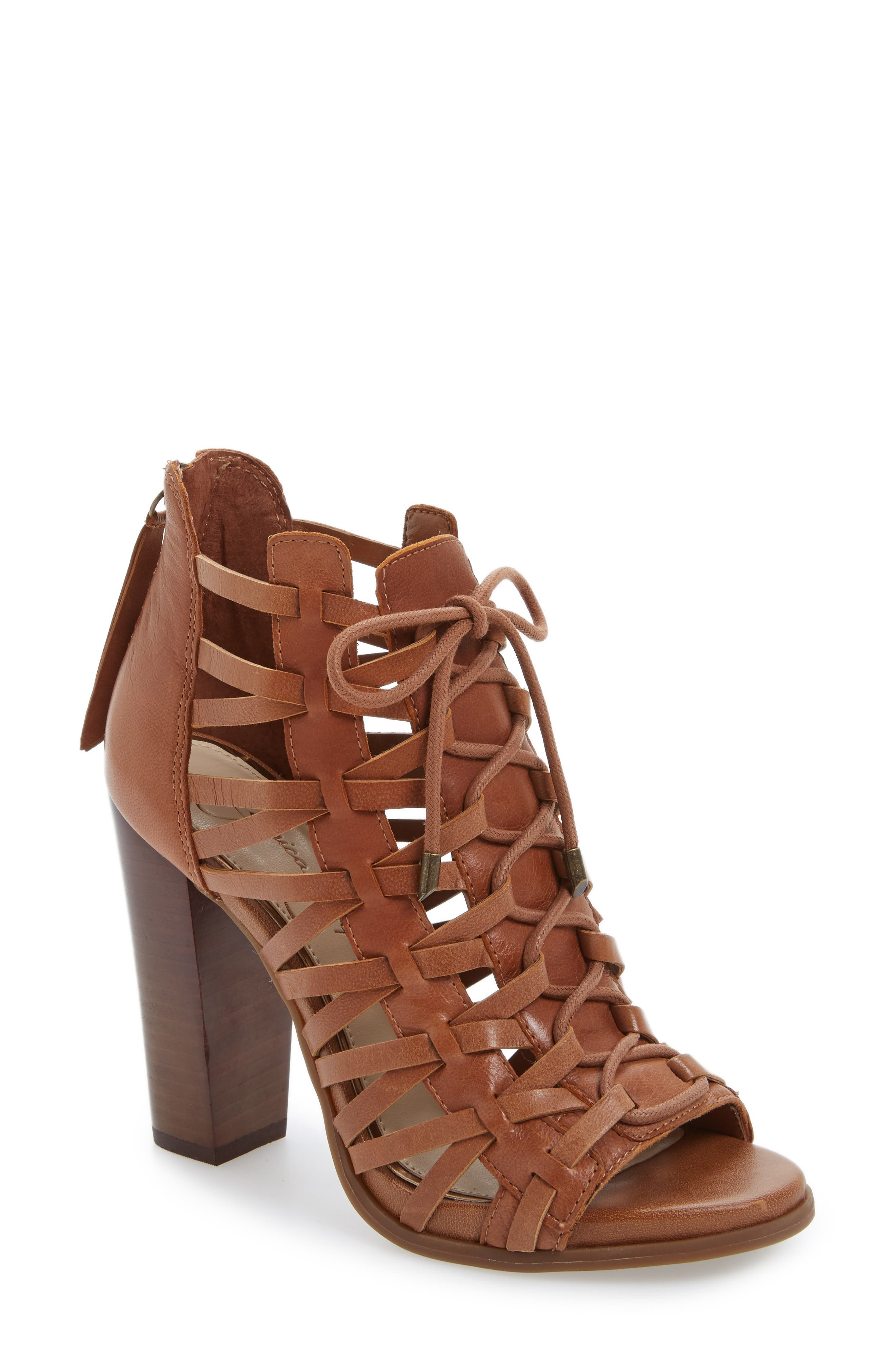 Alternate Image 1 Selected - Jessica Simpson Riana Lace-Up Bootie (Women)