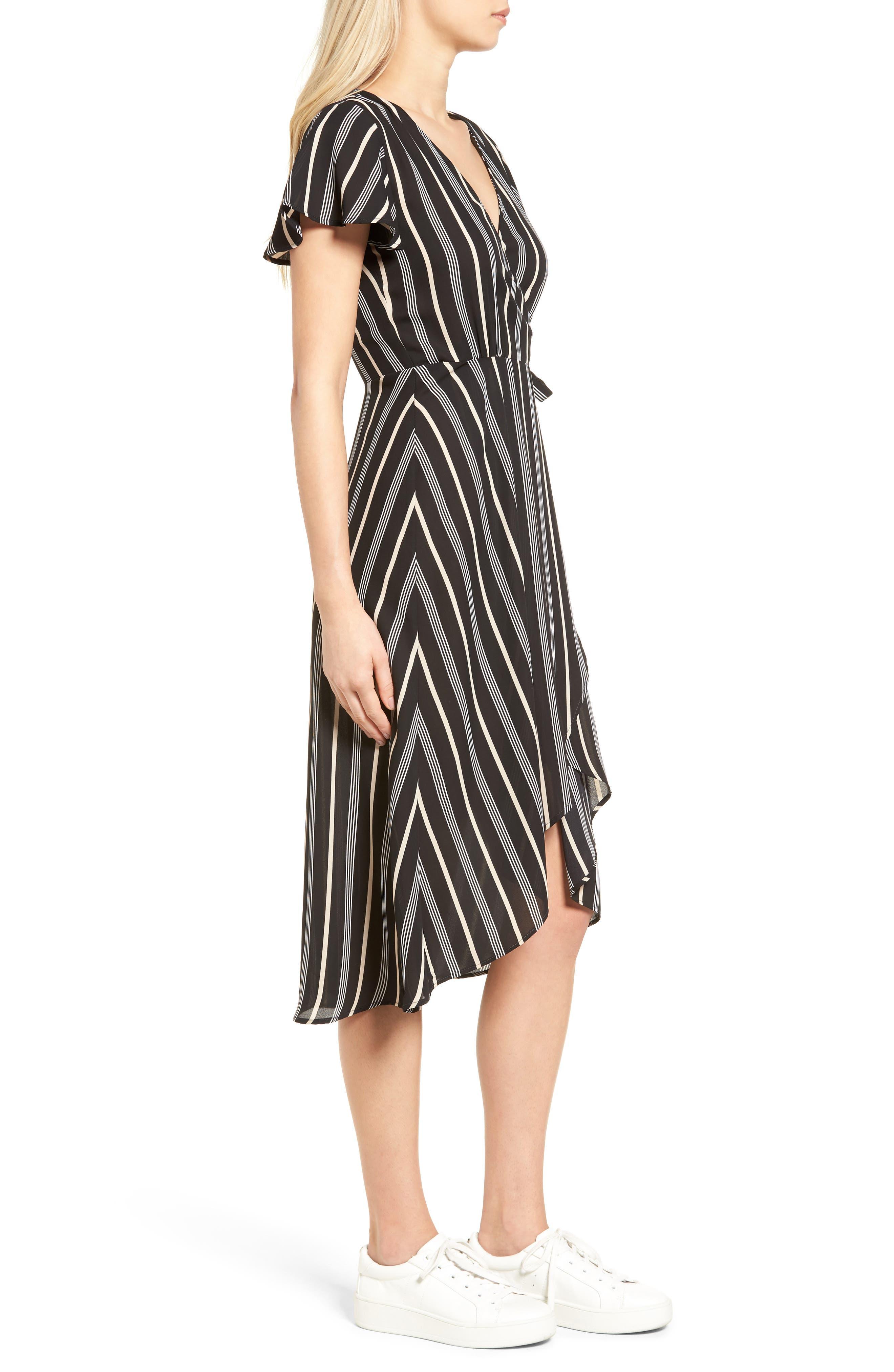 Alternate Image 3  - Socialite Stripe Midi Wrap Dress