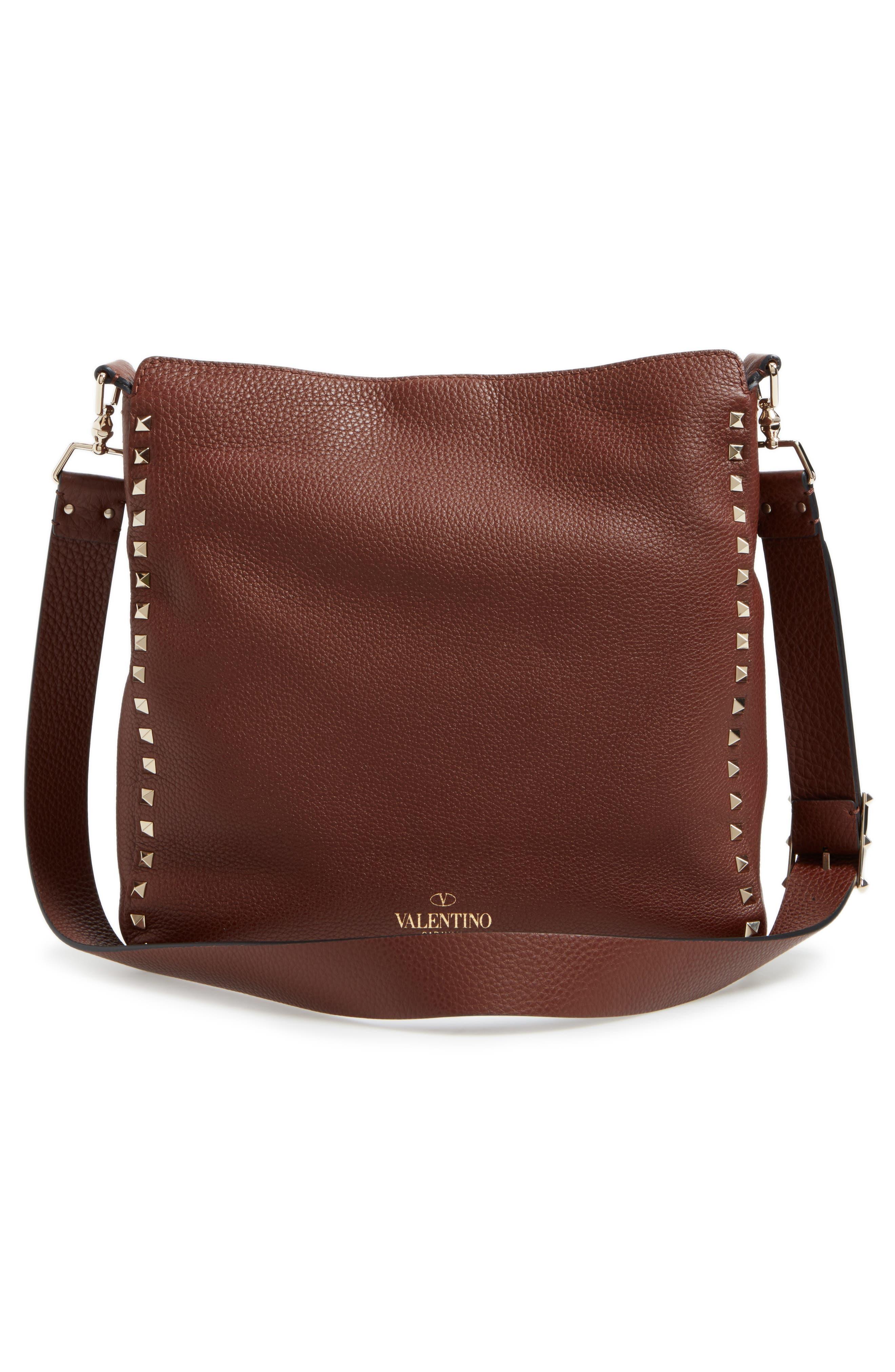 Alternate Image 2  - Valentino Vitello Rockstud Leather Hobo