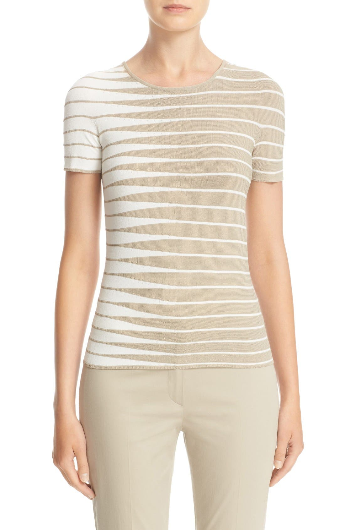 ARMANI COLLEZIONI Alternating Stripe Tee