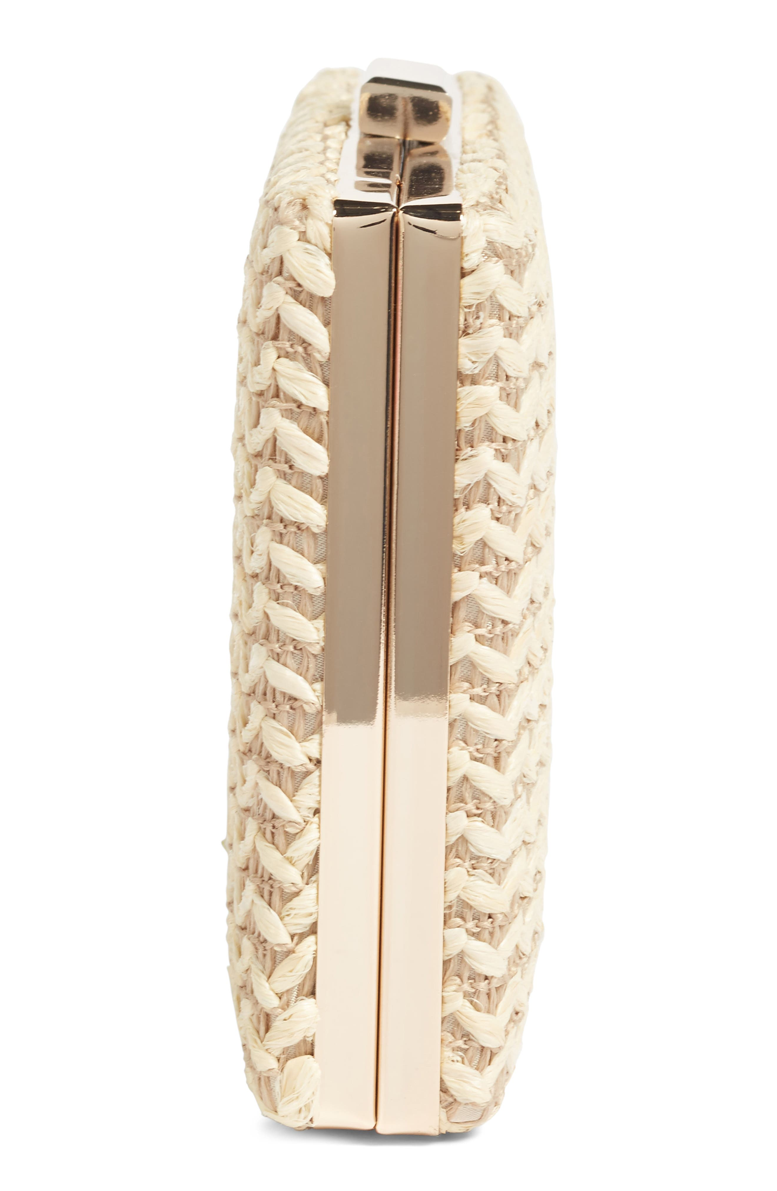 Alternate Image 5  - Glint Straw Minaudière
