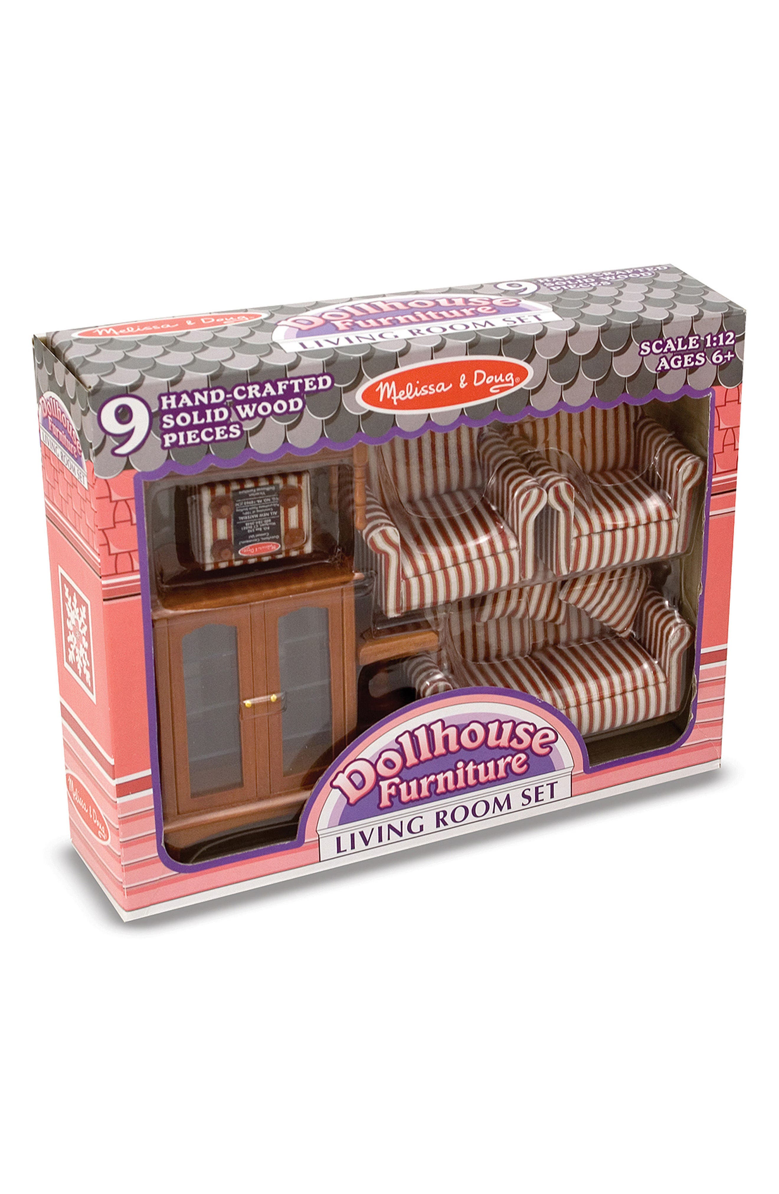 Melissa & Doug 1:12 Scale Dollhouse Living Room Furniture