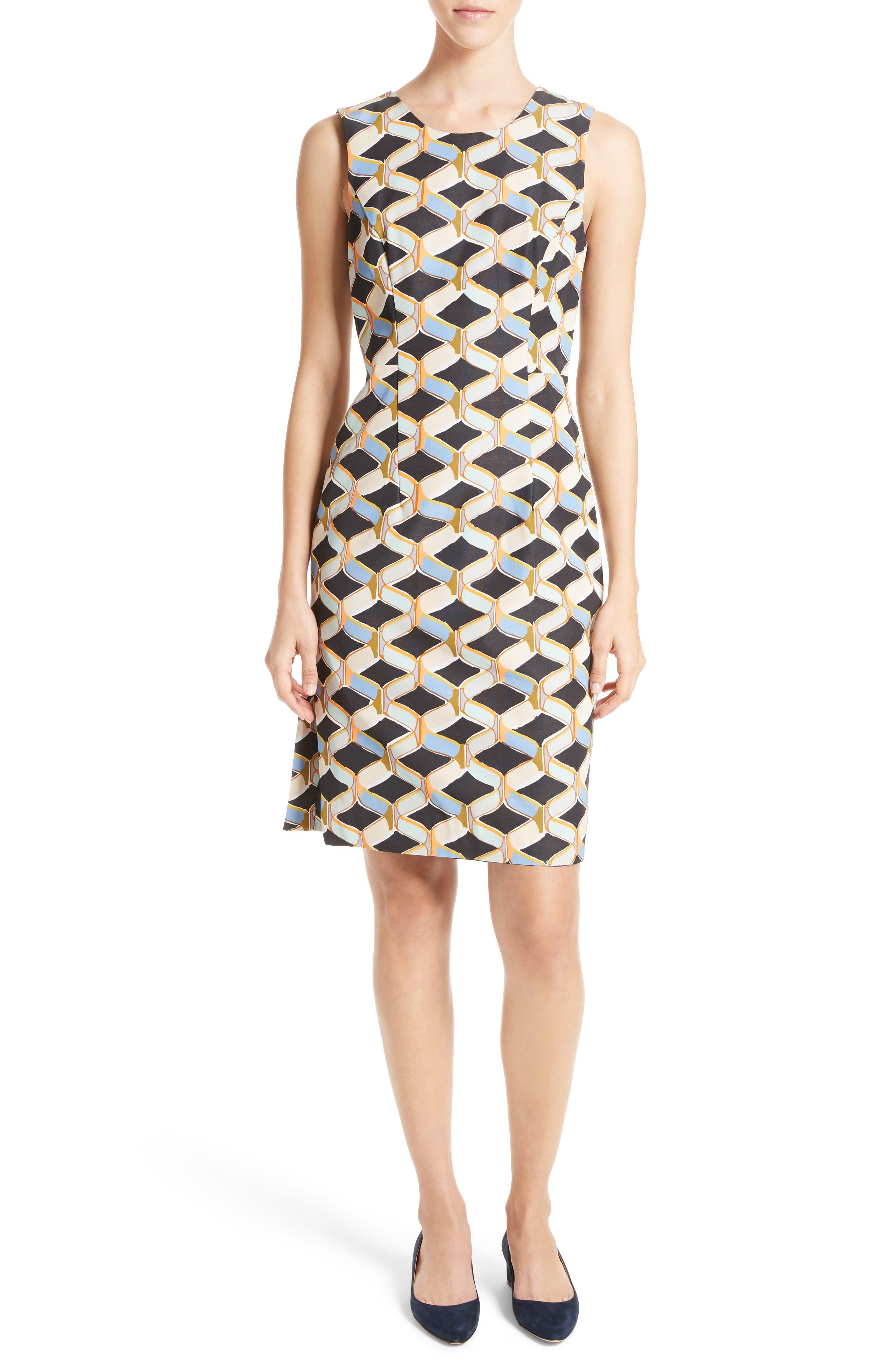 Milly Kendra Chain Print Shift Dress