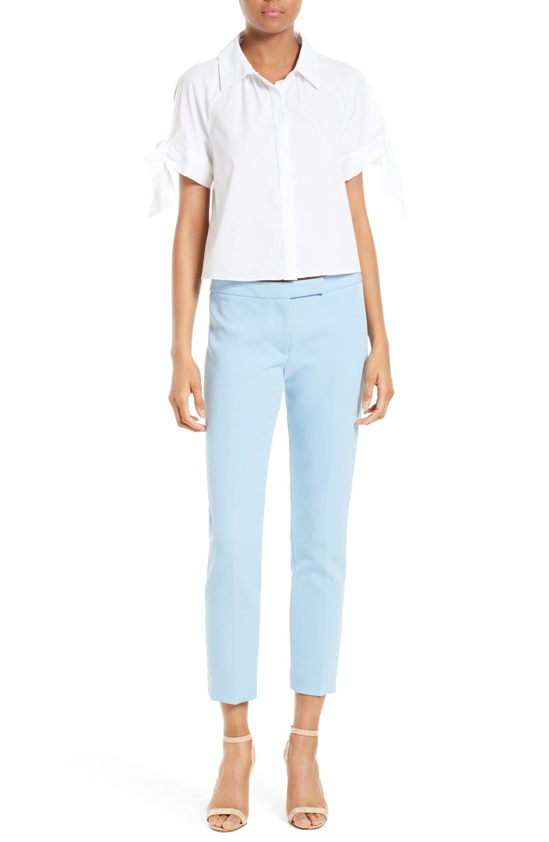 Alternate Image 2  - Milly Stretch Crepe Cigarette Pant