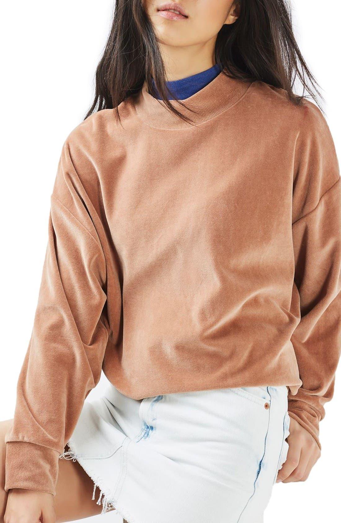 Alternate Image 4  - Topshop Moto Bleach Denim Miniskirt