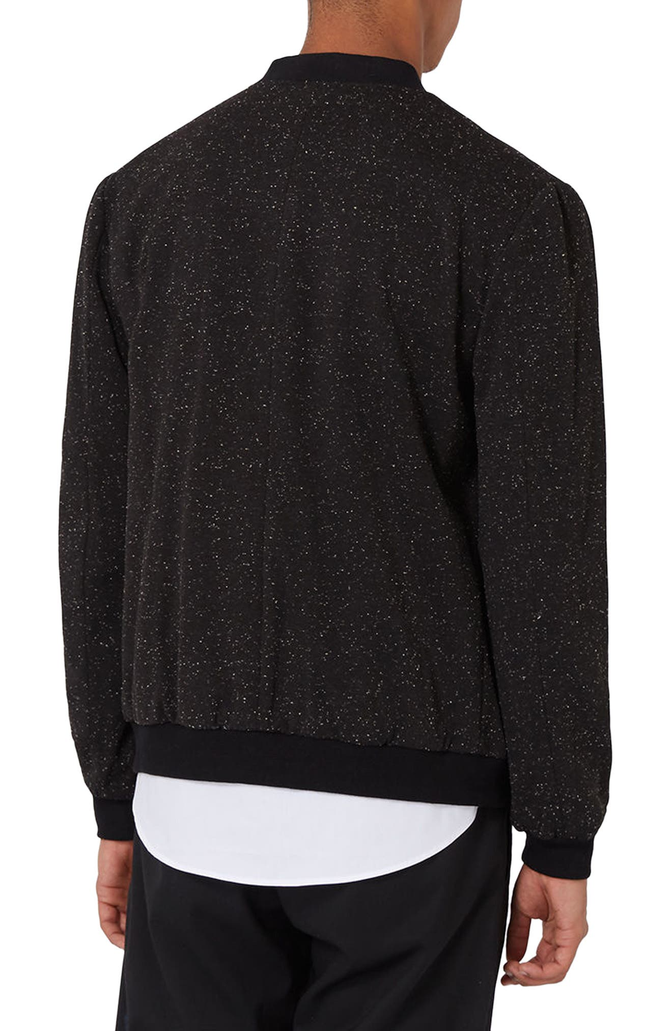 Alternate Image 3  - Topman Nep Flecked Bomber Jacket