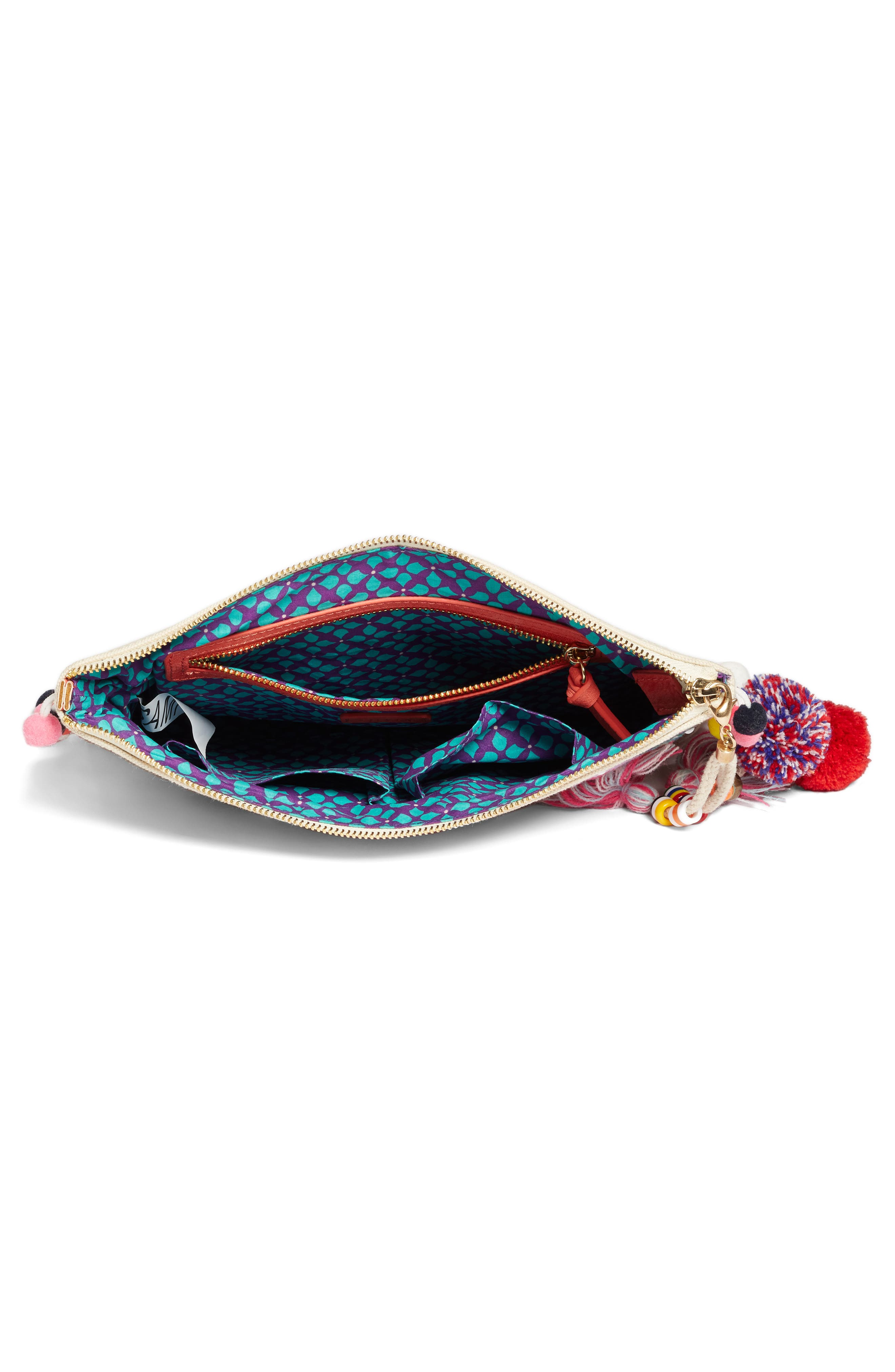 Alternate Image 4  - Steven by Steve Madden Embroidered Clutch