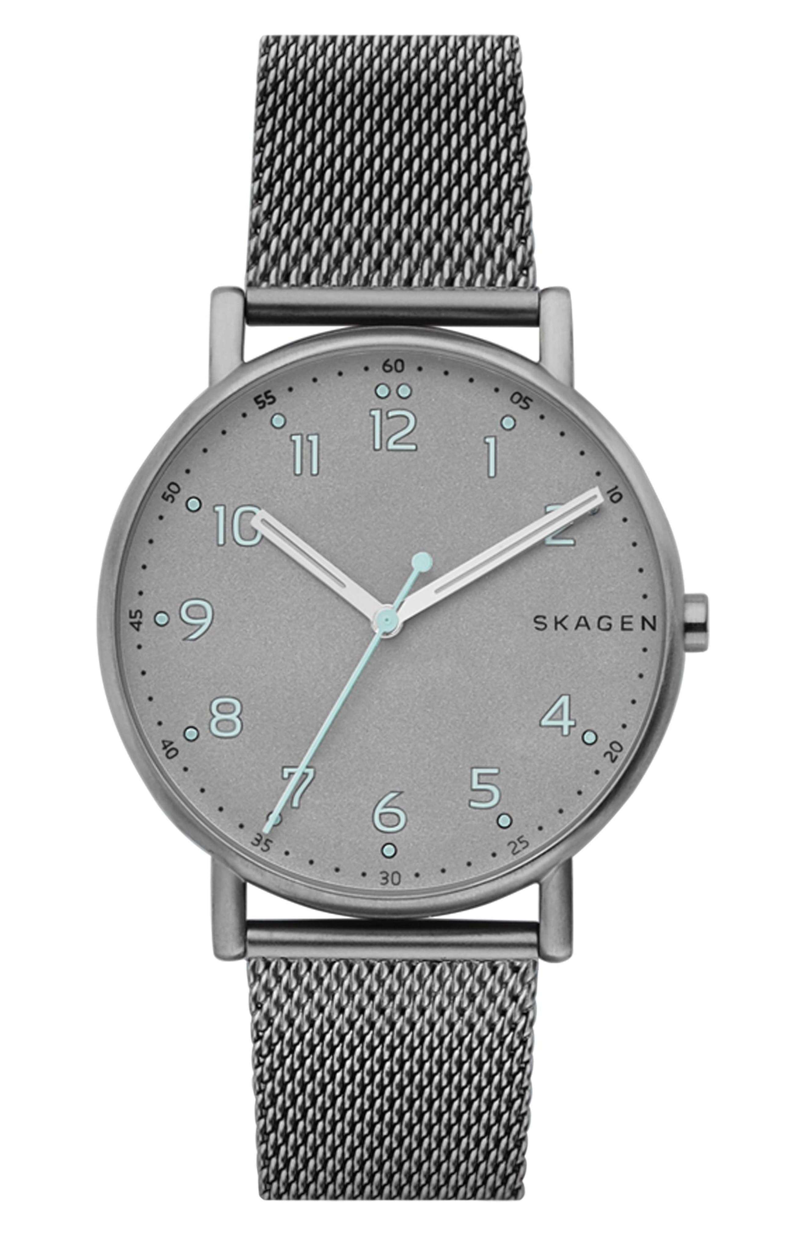 Skagen Round Mesh Strap Watch, 40mm