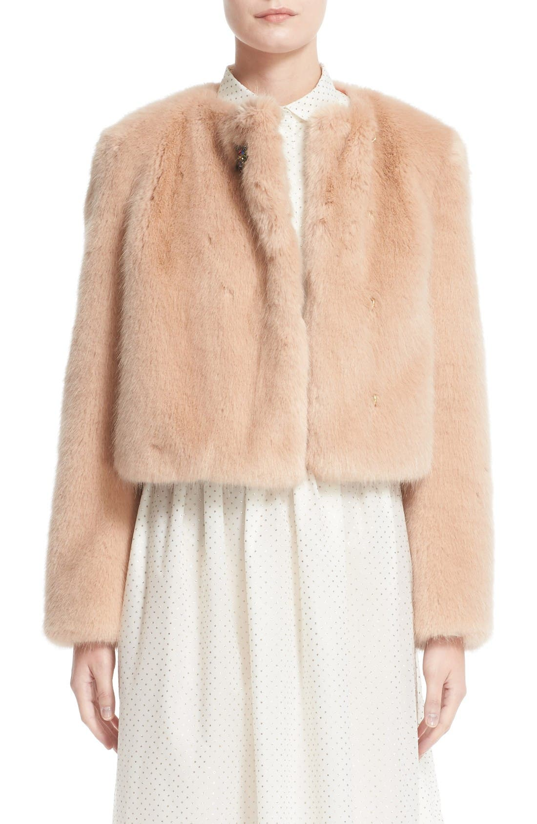 Main Image - Shrimps Muffin Faux Fur Jacket