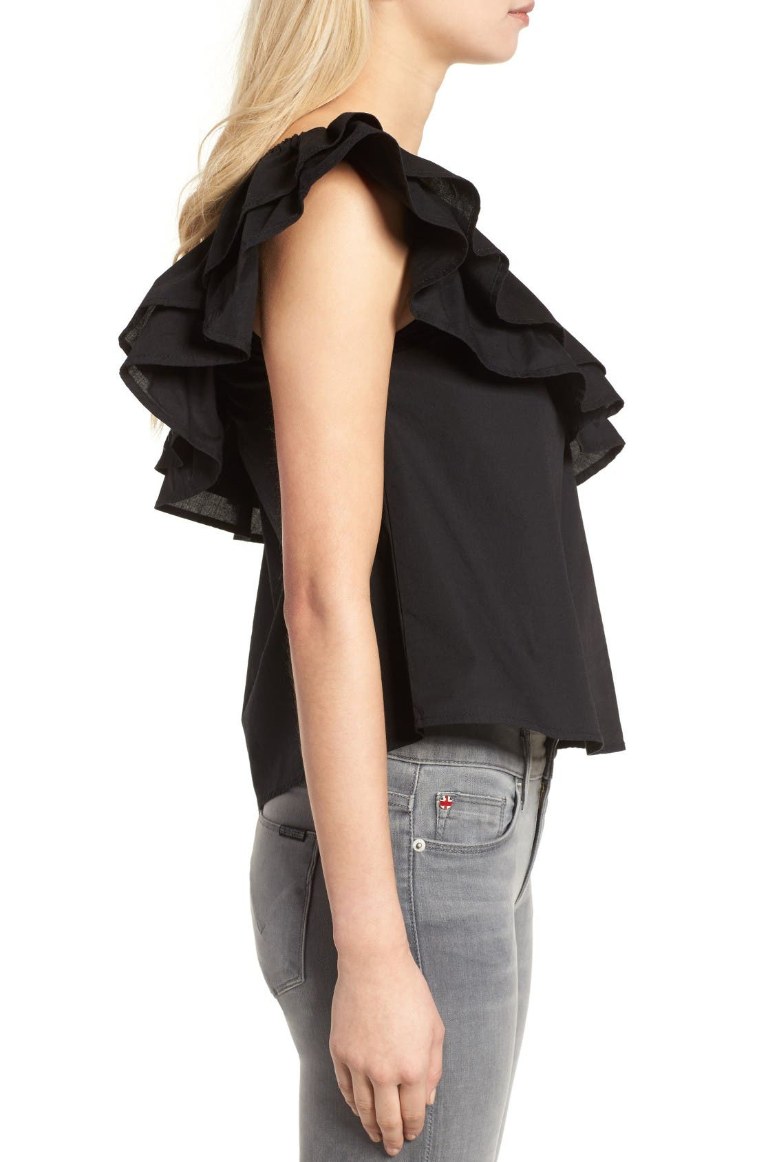Alternate Image 3  - Sincerely Jules Everly One-Shoulder Cotton Top