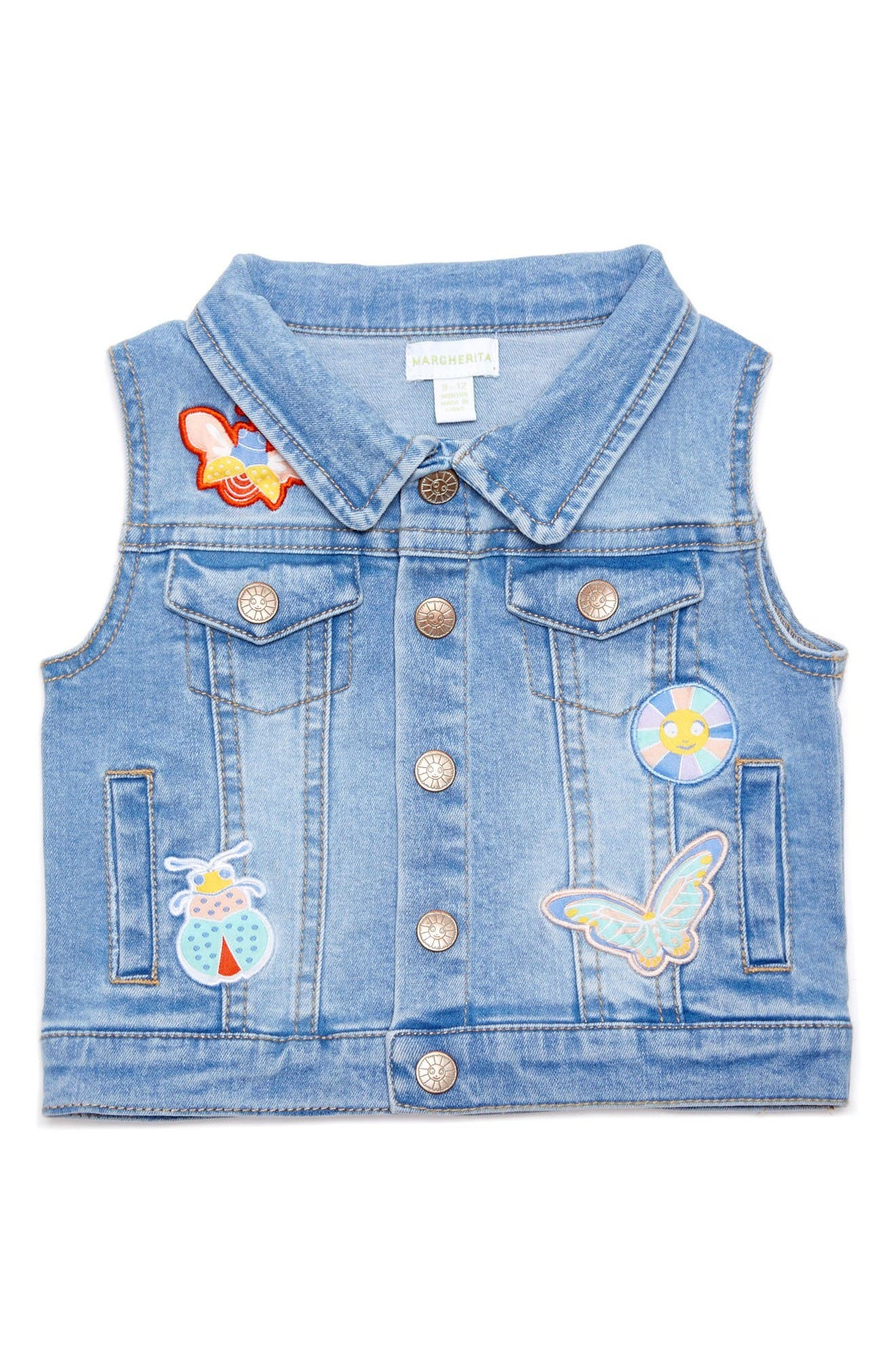 Margherita Denim Vest (Baby Girls)