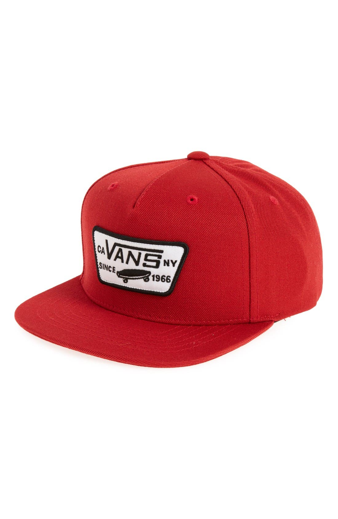 Vans 'Full Patch' Snapback Hat (Big Boys)