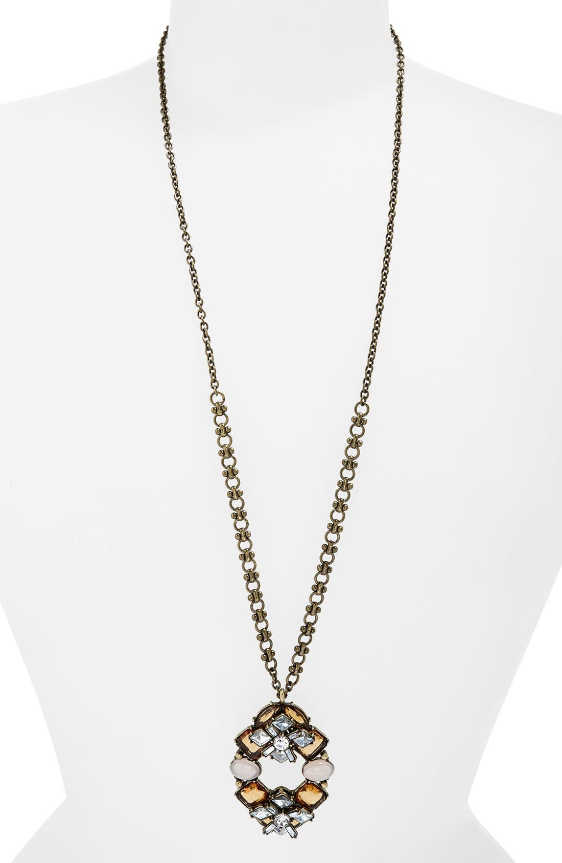 Alternate Image 1 Selected - Missing Piece Cluster Pendant Drop Necklace